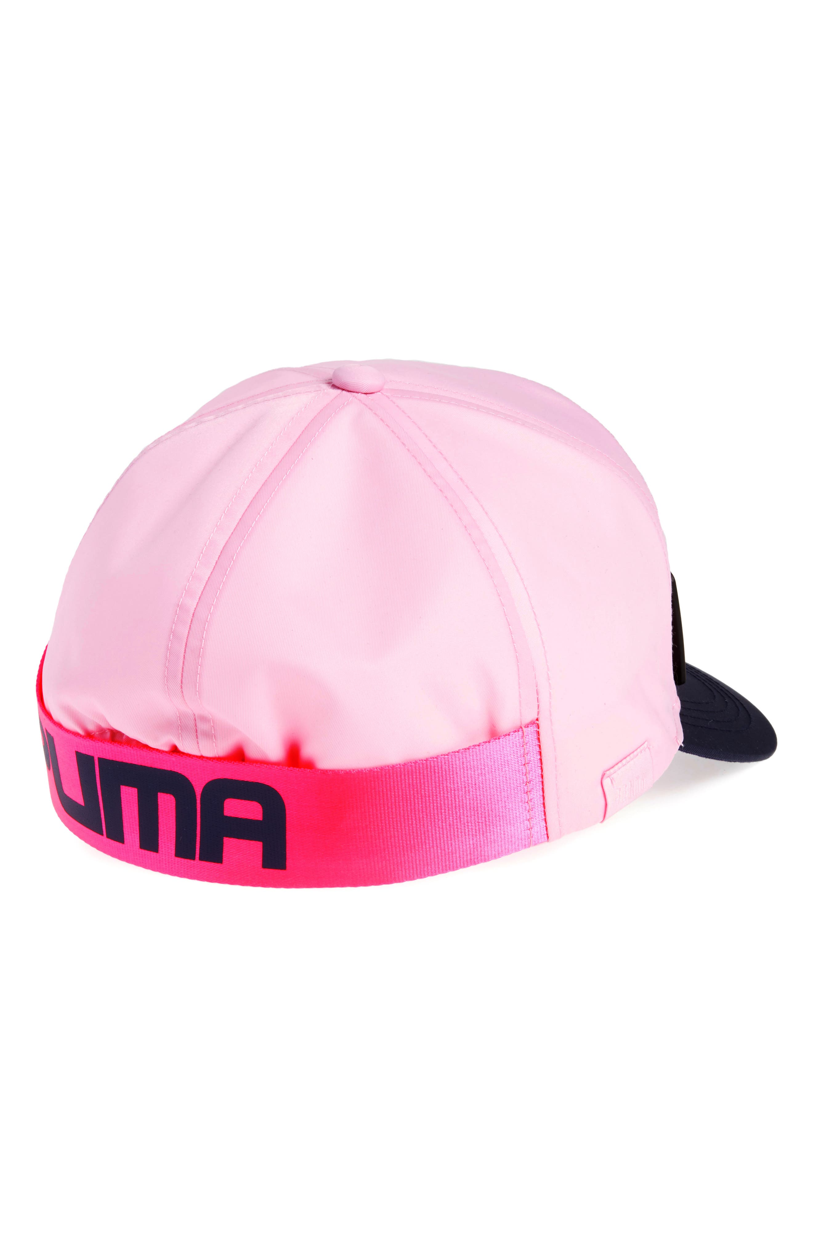 FENTY PUMA by Rihanna Giant Strap Cap,                             Alternate thumbnail 2, color,                             Pink Lady-Evening Blue