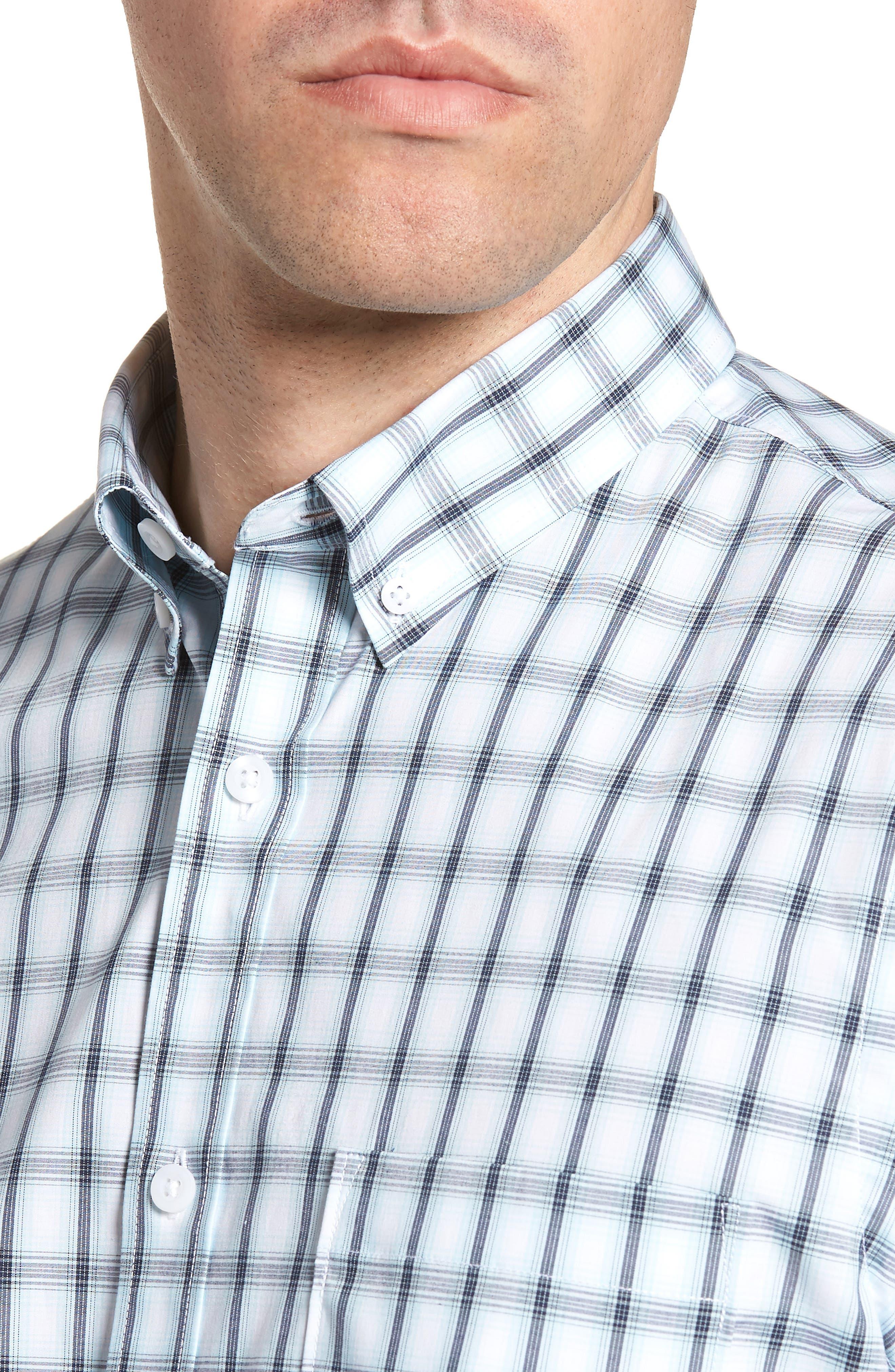 Tech-Smart Regular Fit Check Sport Shirt,                             Alternate thumbnail 2, color,                             Blue Orydalis Ombre Check