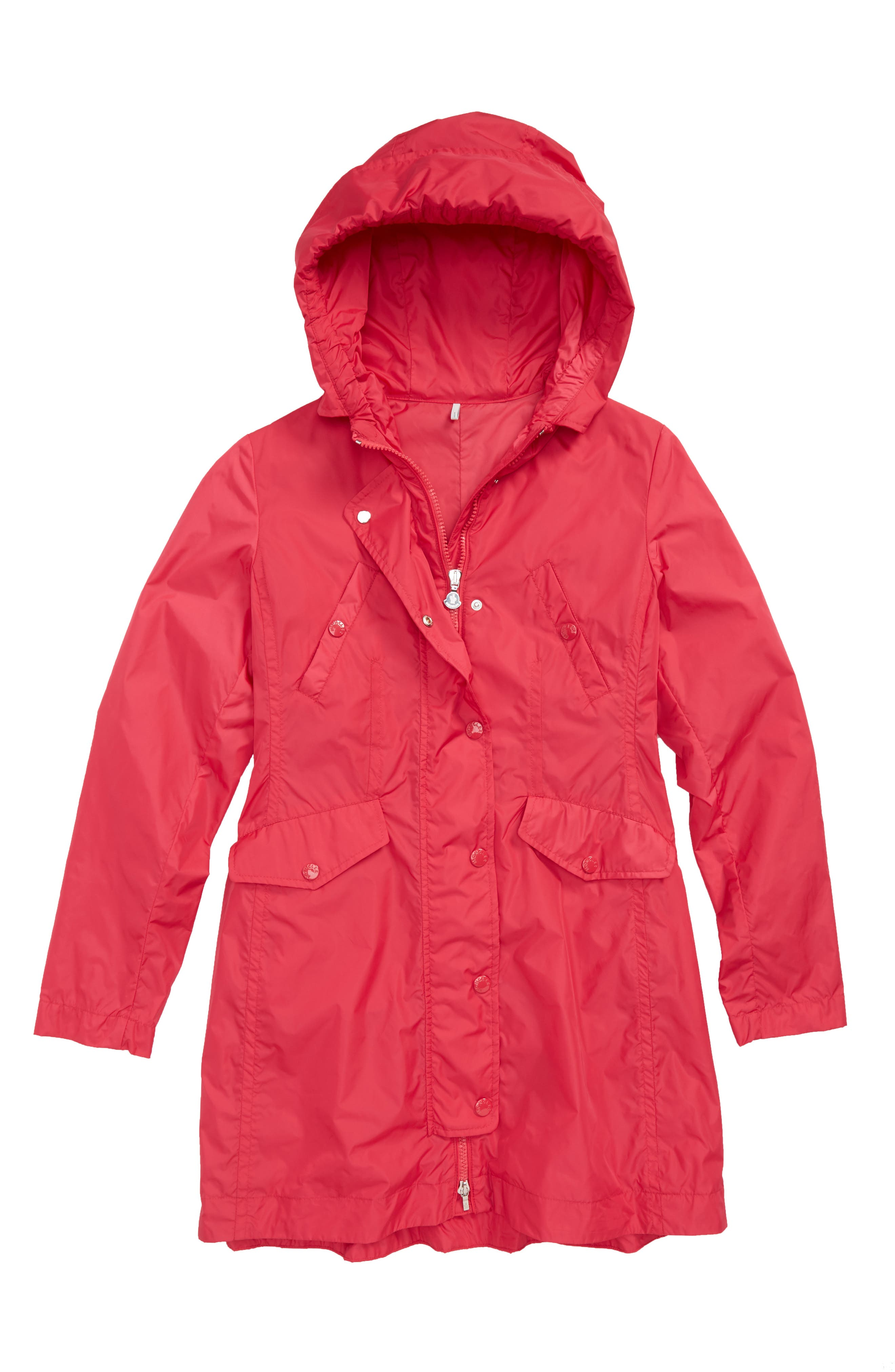 Main Image - Moncler Audrey Longline Raincoat (Little Girls & Big Girls)