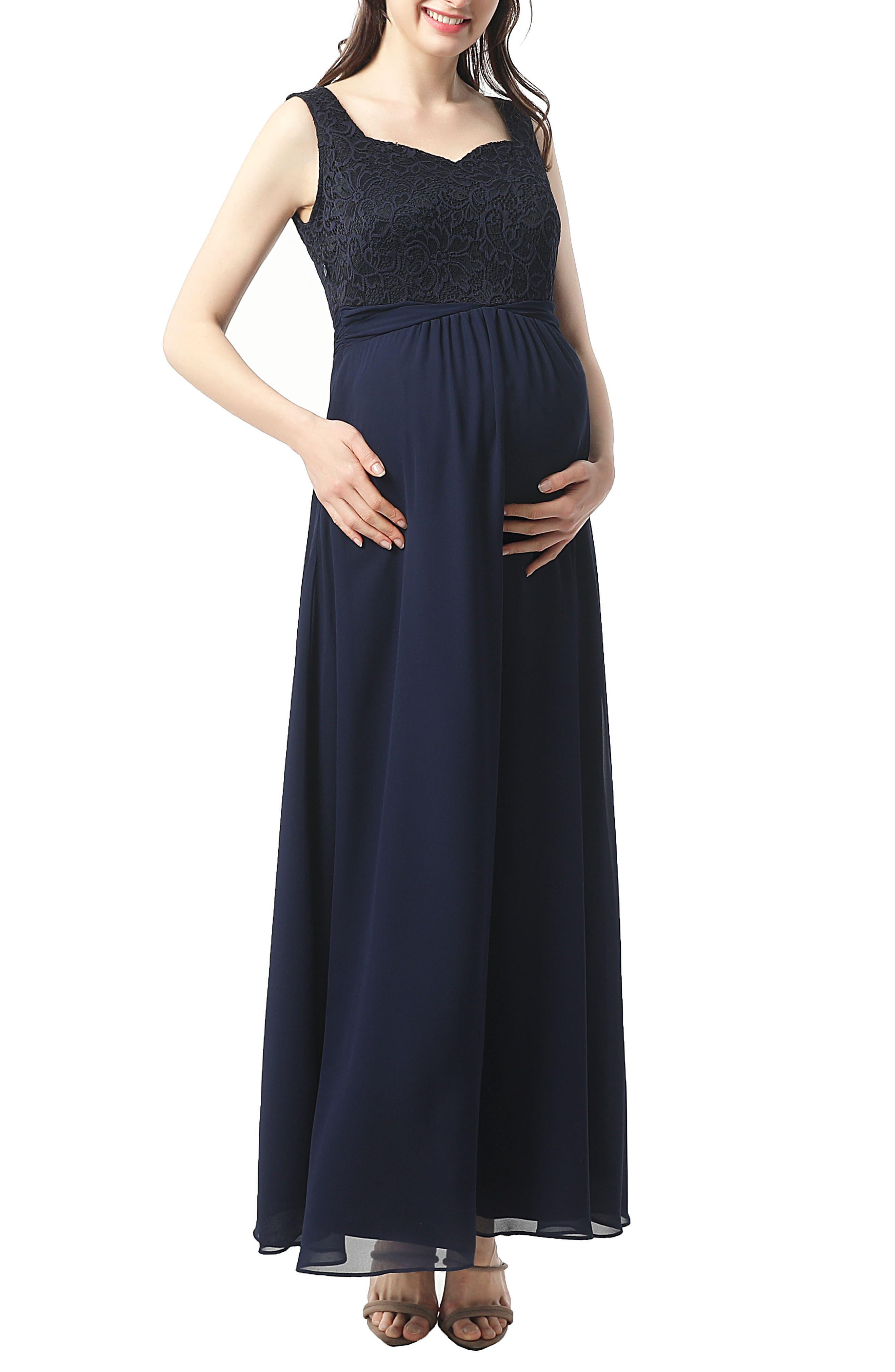 Kyra Maternity Maxi Dress,                         Main,                         color, Navy