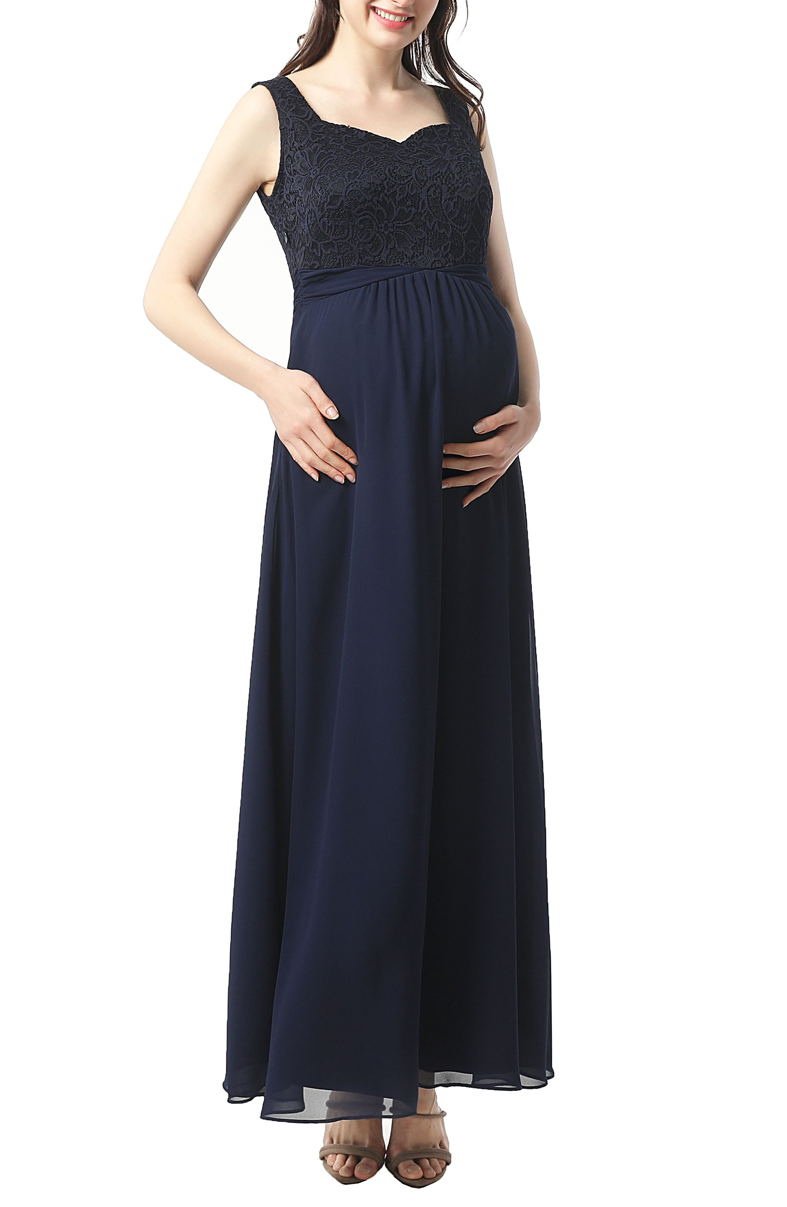Kyra Maternity Maxi Dress,                         Main,                         color, Navy