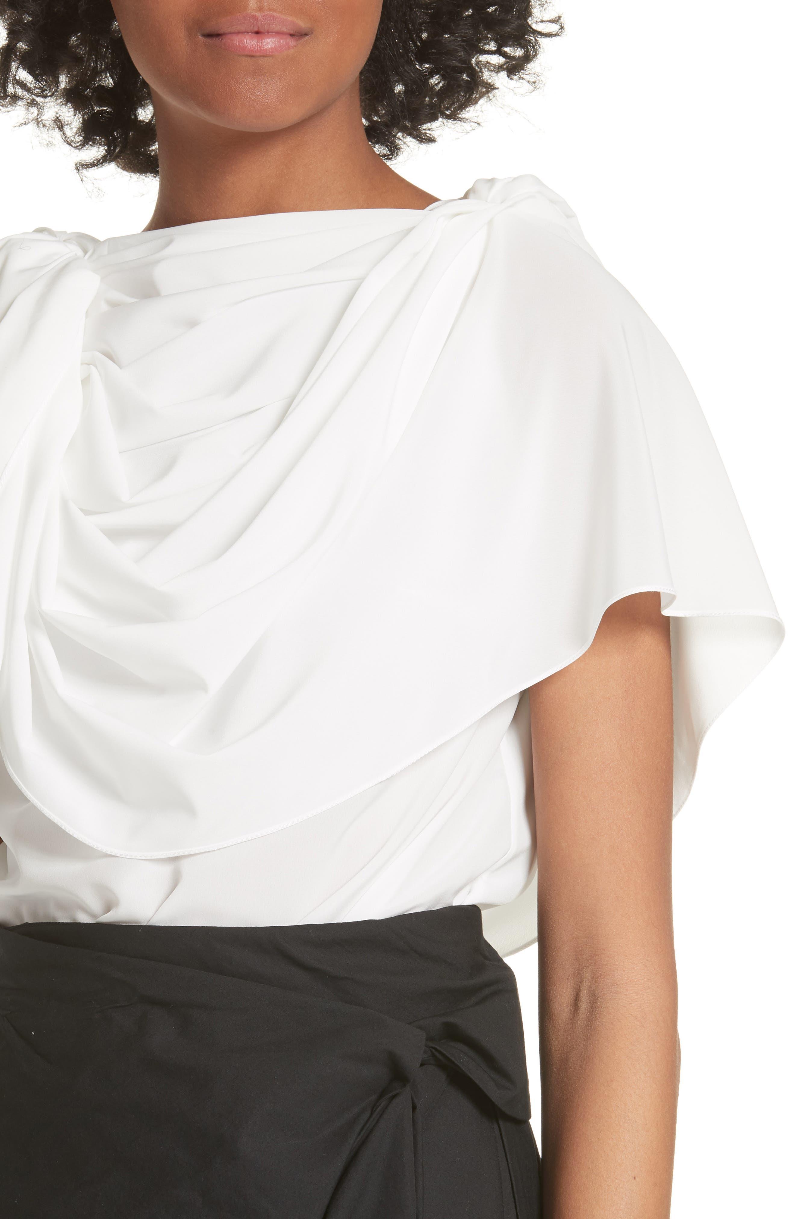Greek Top,                             Alternate thumbnail 4, color,                             White