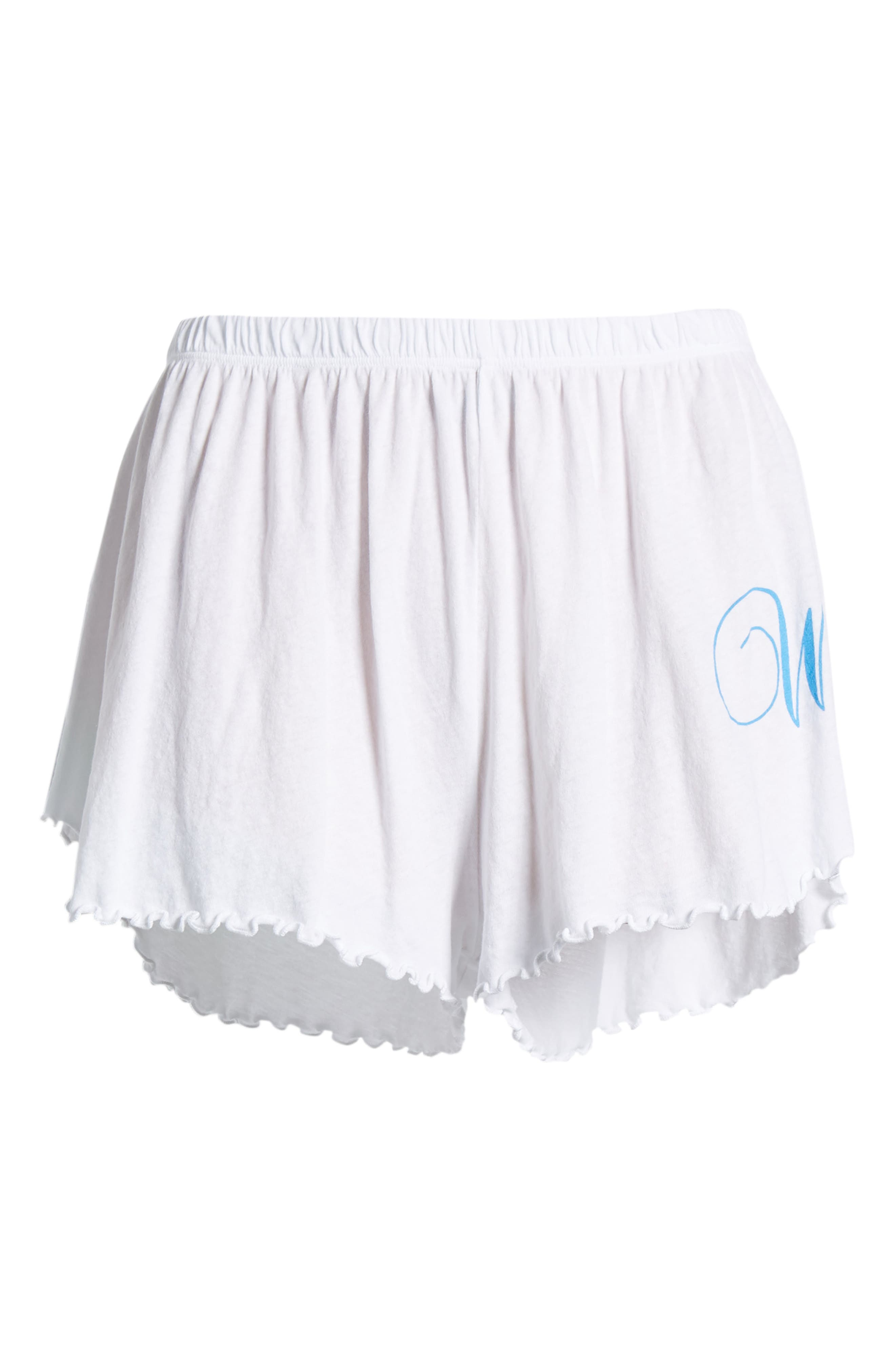 Wife Shorts,                             Alternate thumbnail 6, color,                             Clean White