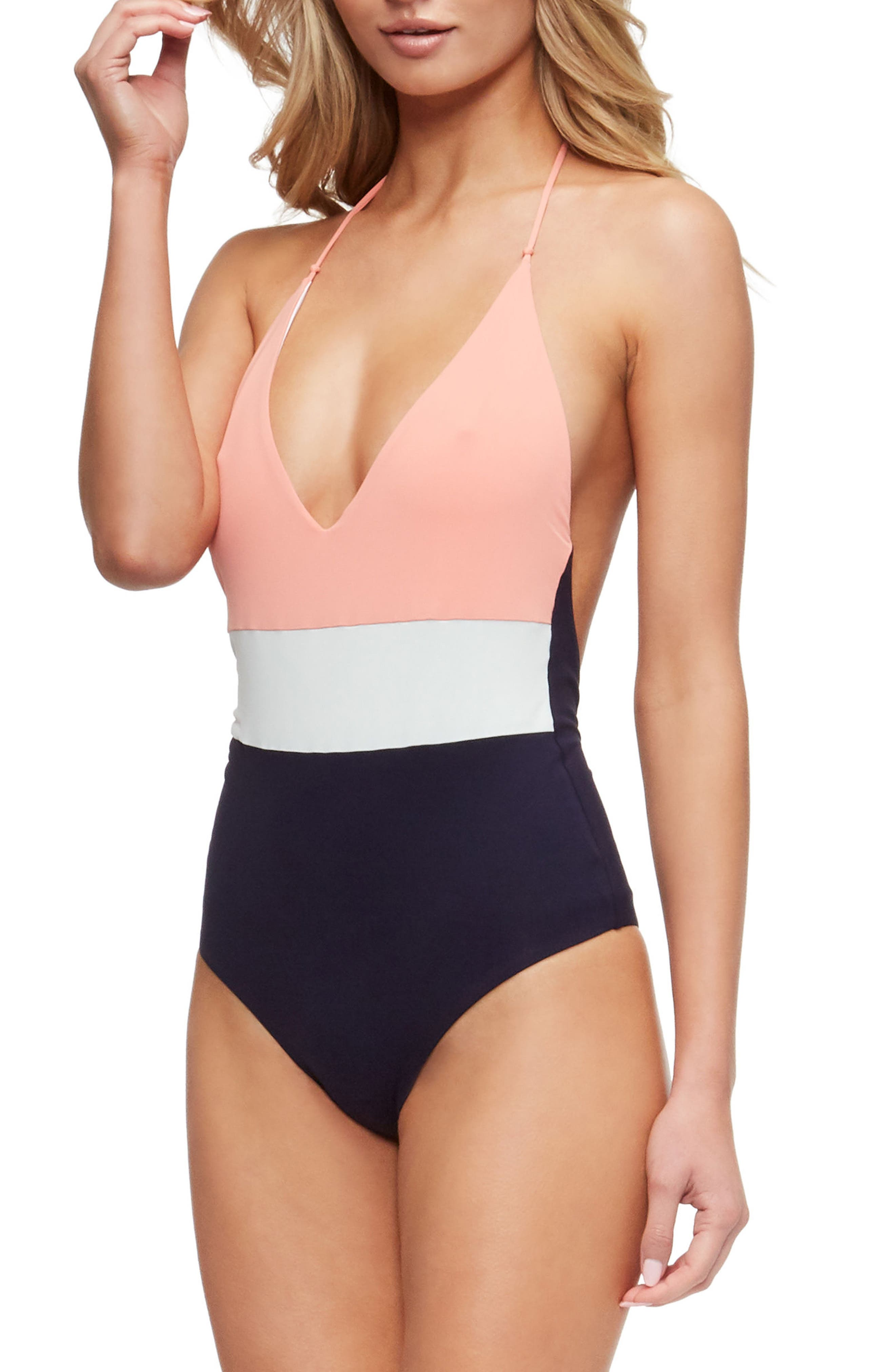 Chase One-Piece Swimsuit,                             Alternate thumbnail 3, color,                             Coral