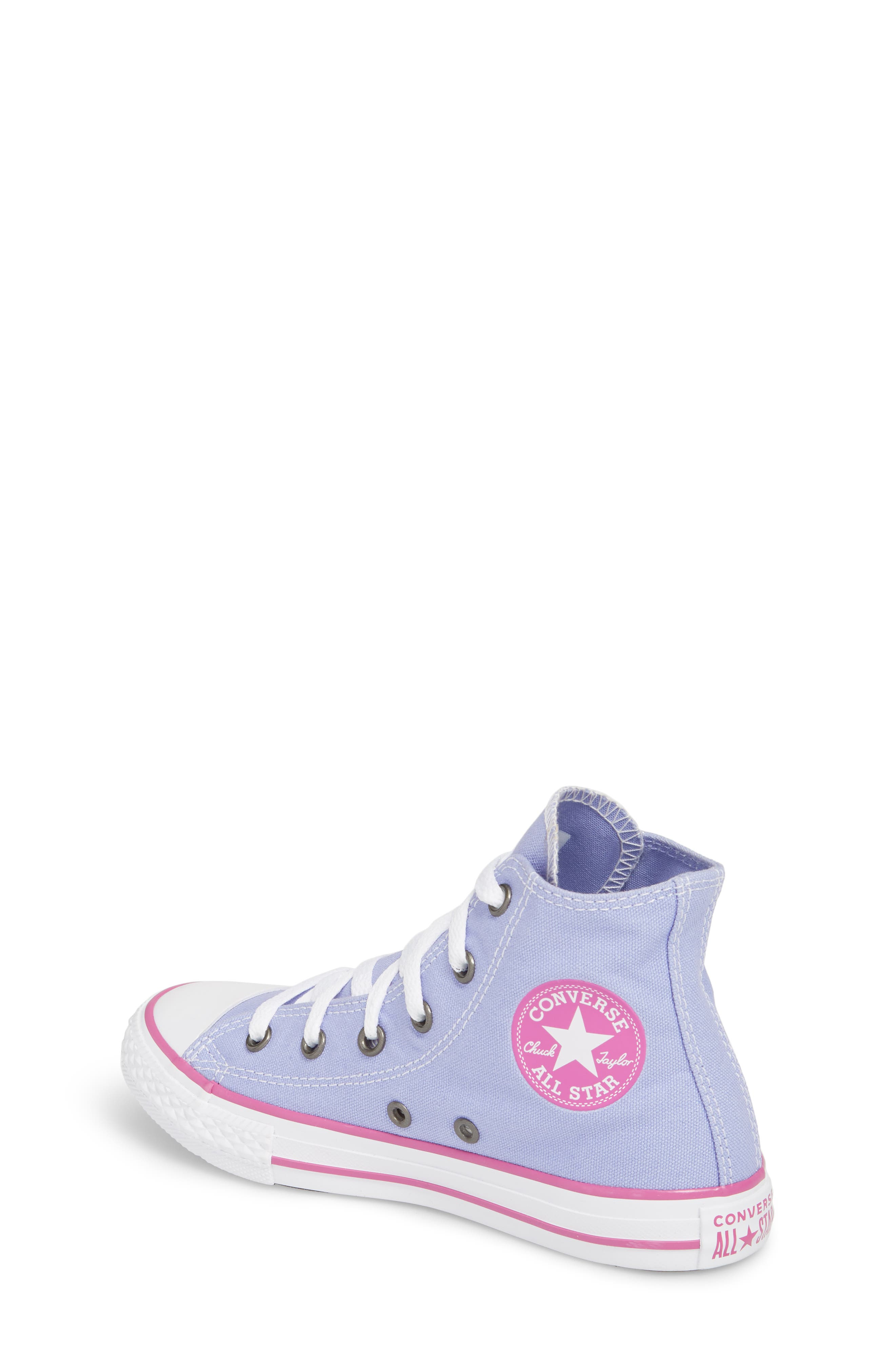 Chuck Taylor<sup>®</sup> All Star<sup>®</sup> High Top Sneaker,                             Alternate thumbnail 2, color,                             Twilight Purple