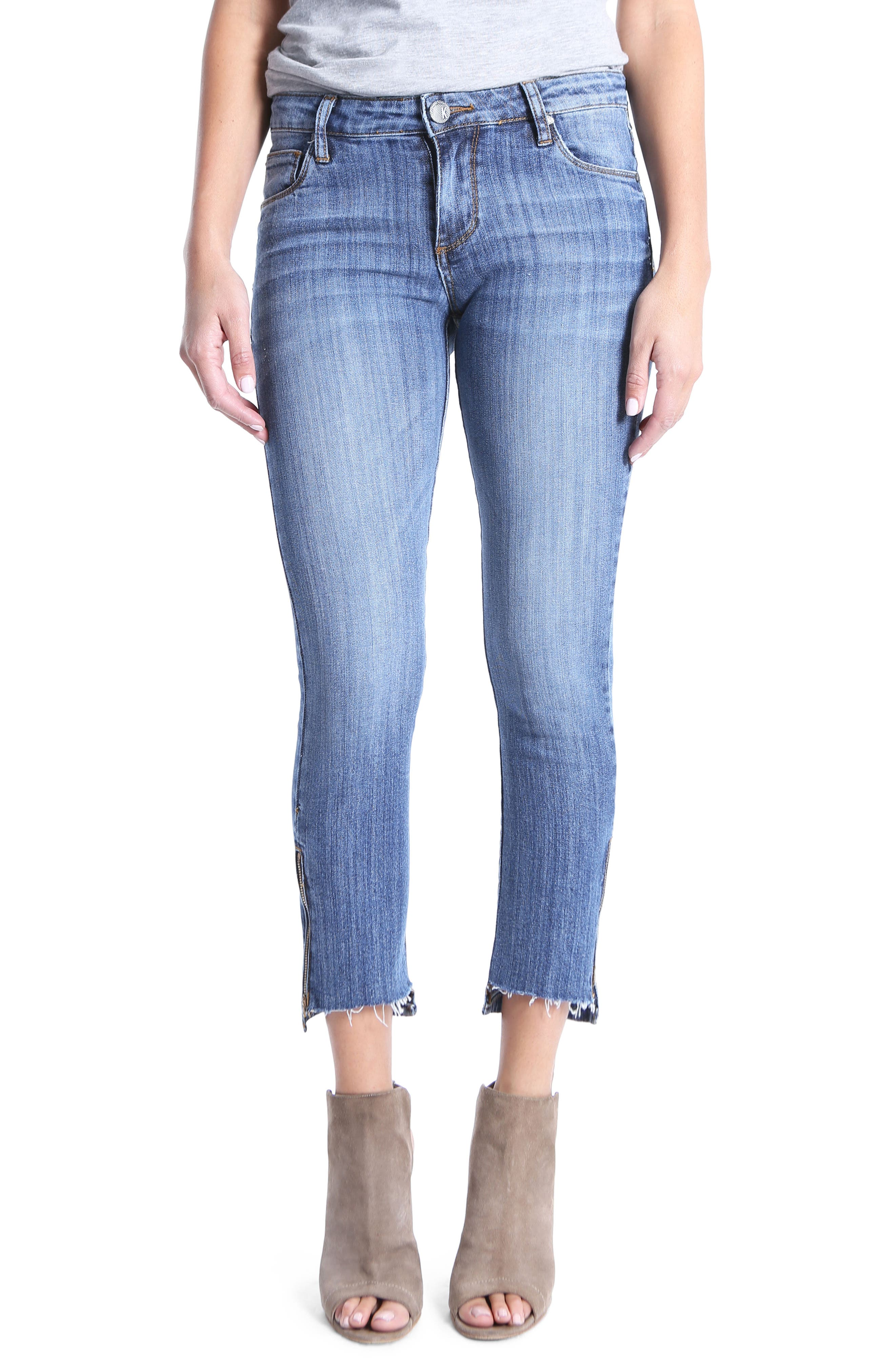 Reese Step Hem Ankle Jeans,                         Main,                         color, Embraced