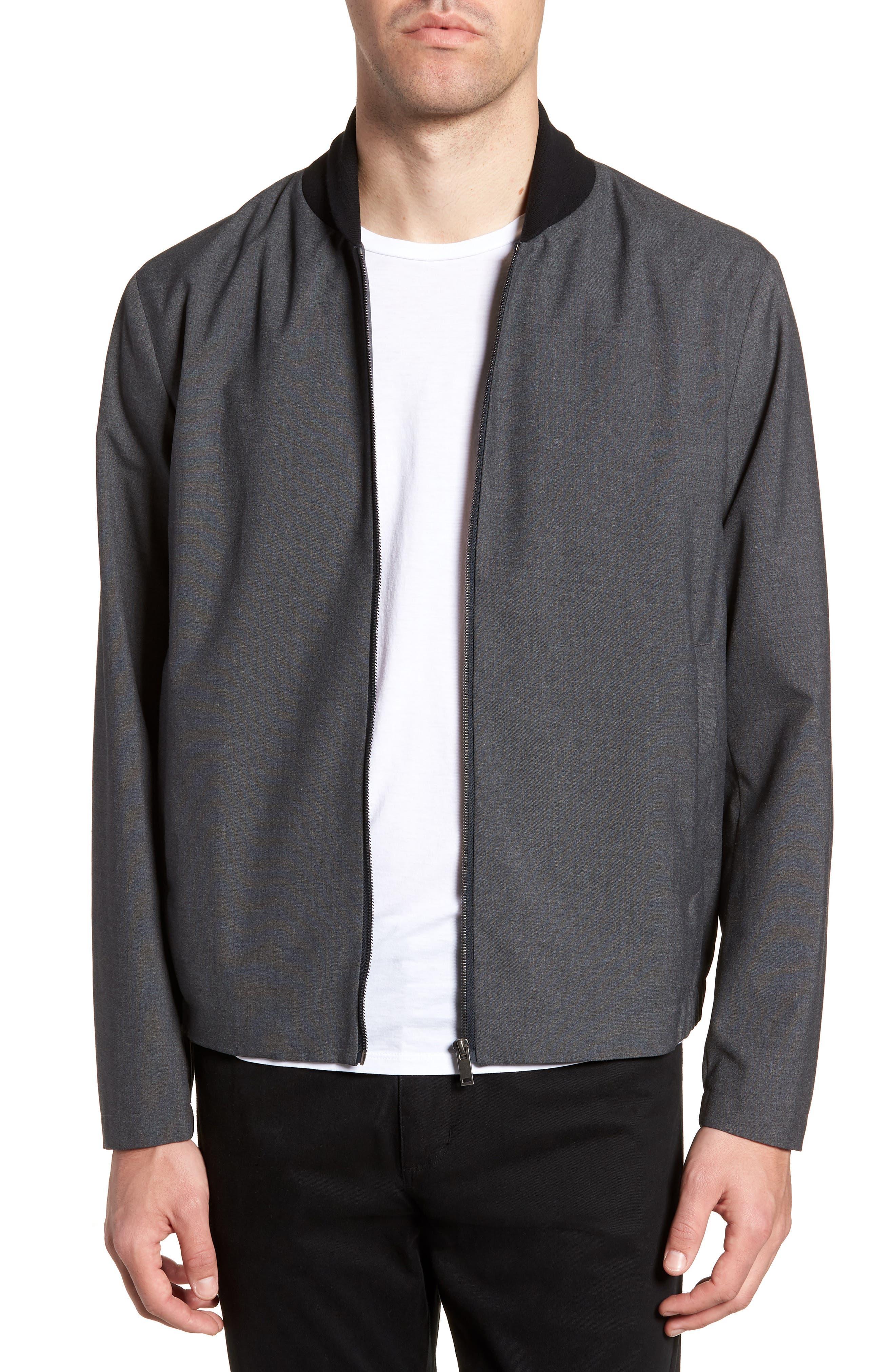 Amir Bomber Jacket,                         Main,                         color, Charcoal
