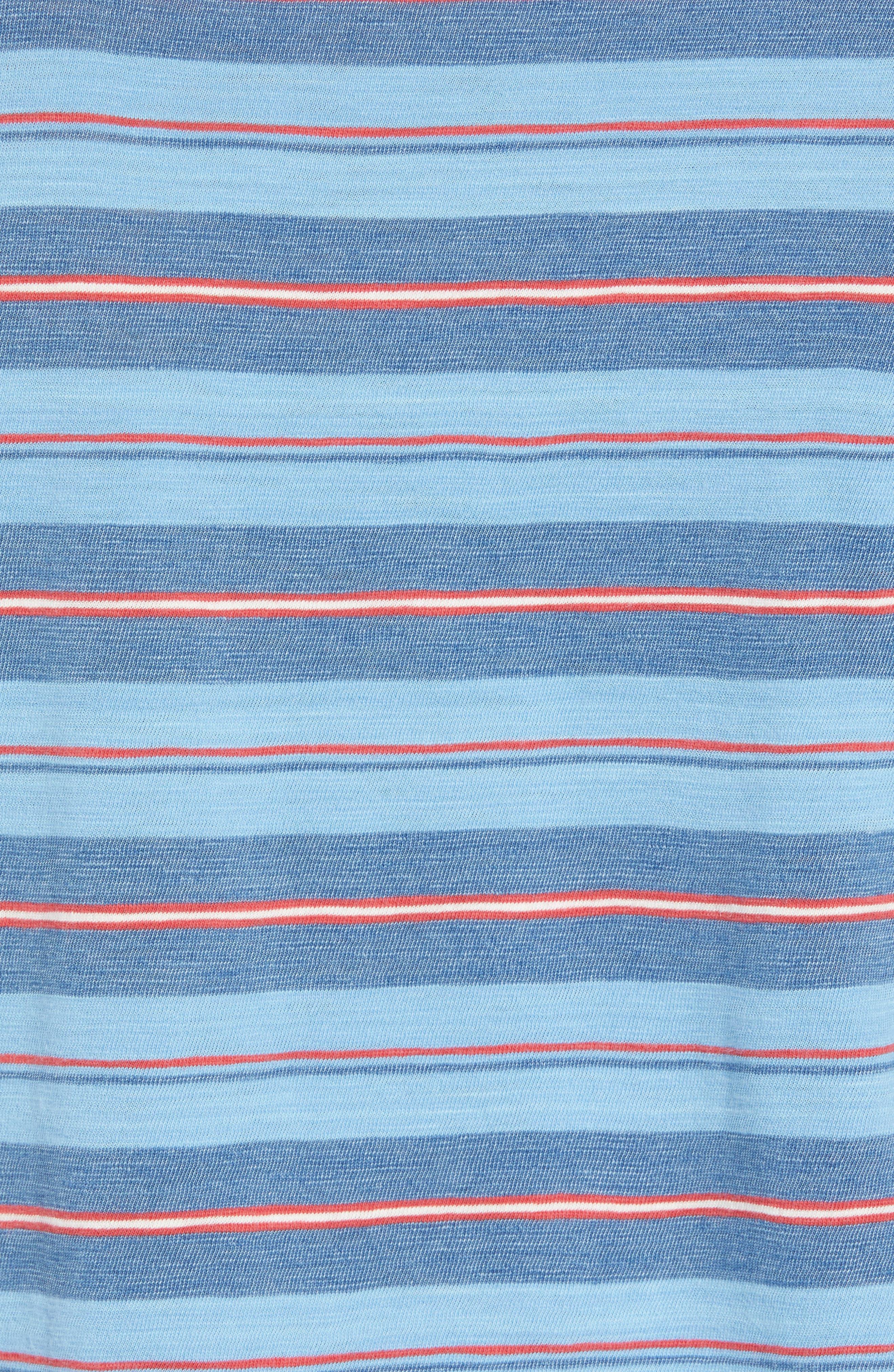 Vintage Stripe Pocket T-Shirt,                             Alternate thumbnail 5, color,                             Indigo Multi
