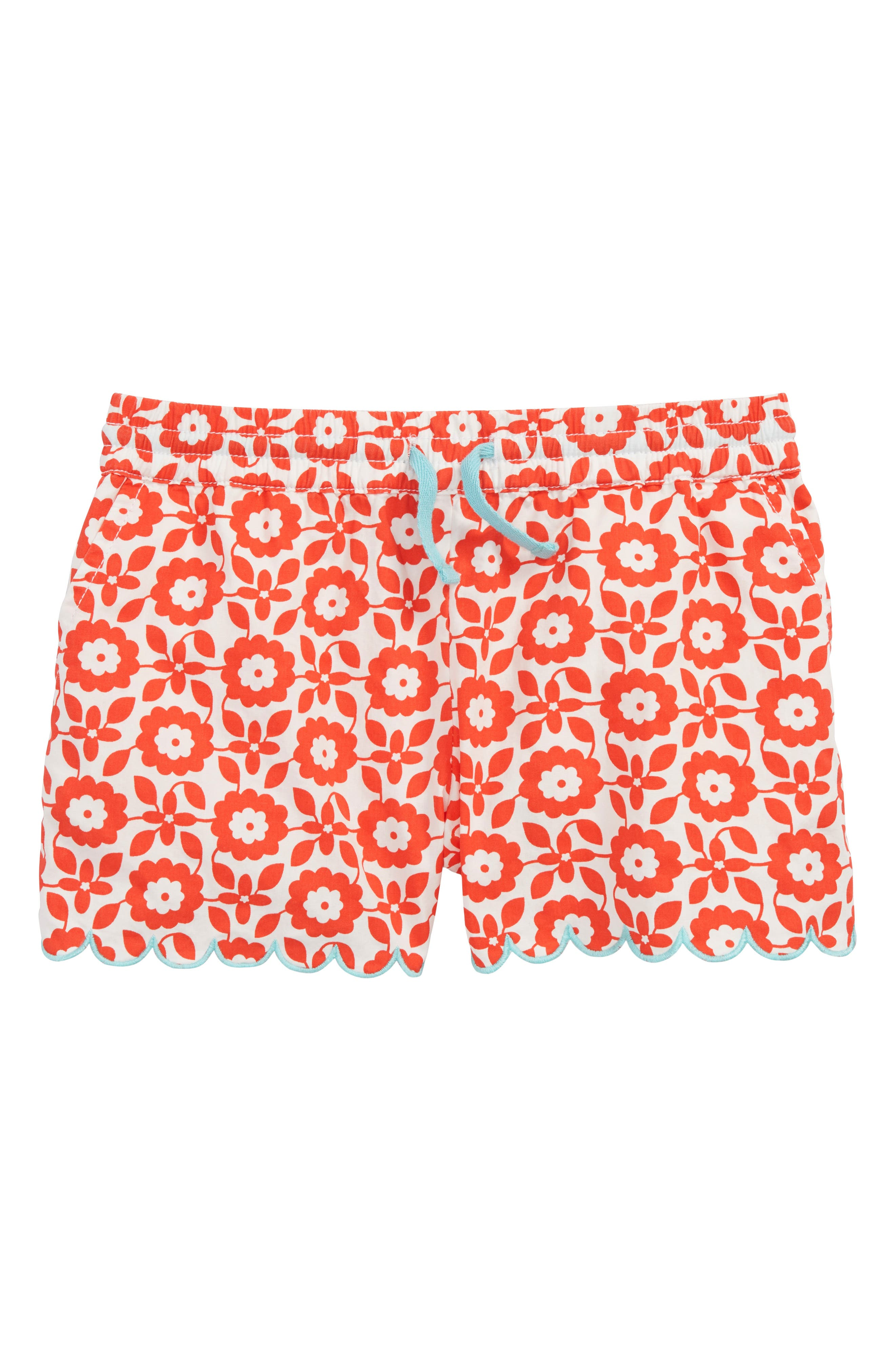 Print Woven Shorts,                         Main,                         color, Rosehip Red Retro Tile Red