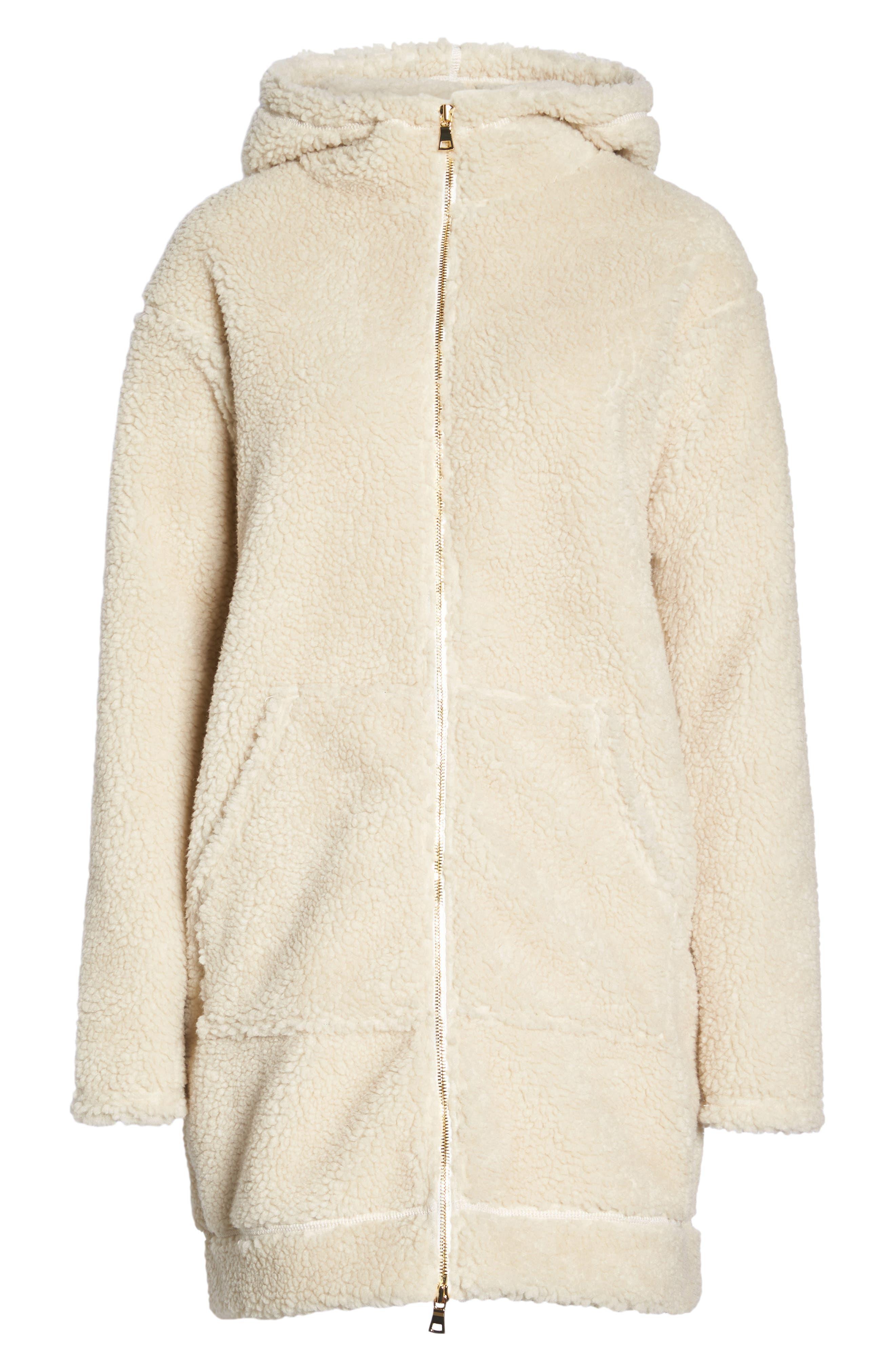 Brea Fleece Jacket,                             Alternate thumbnail 7, color,                             Natural