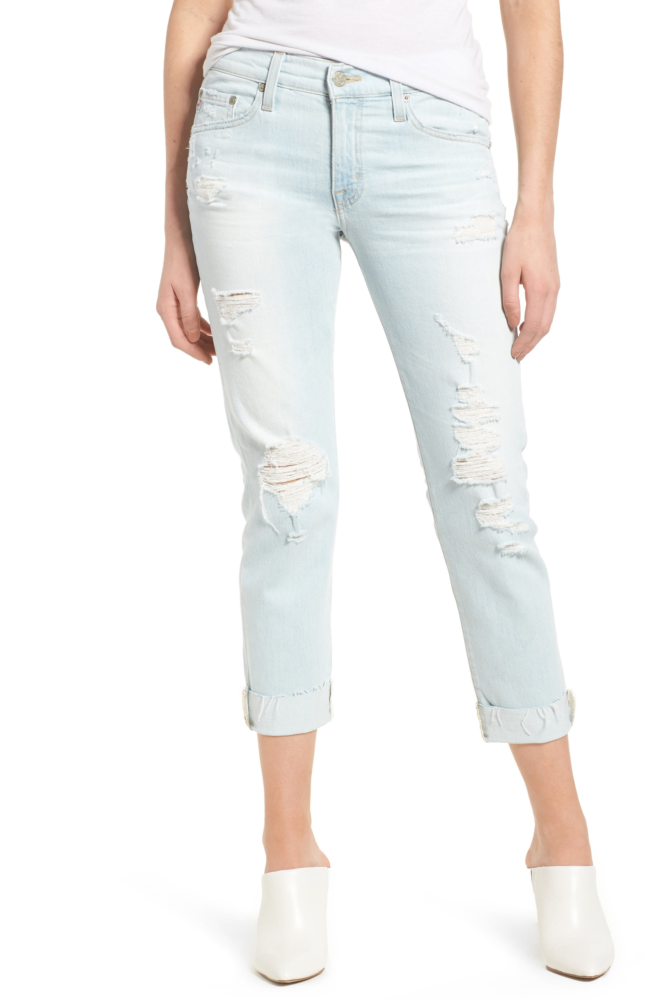 Alternate Image 1 Selected - AG The Ex-Boyfriend Crop Slim Jeans