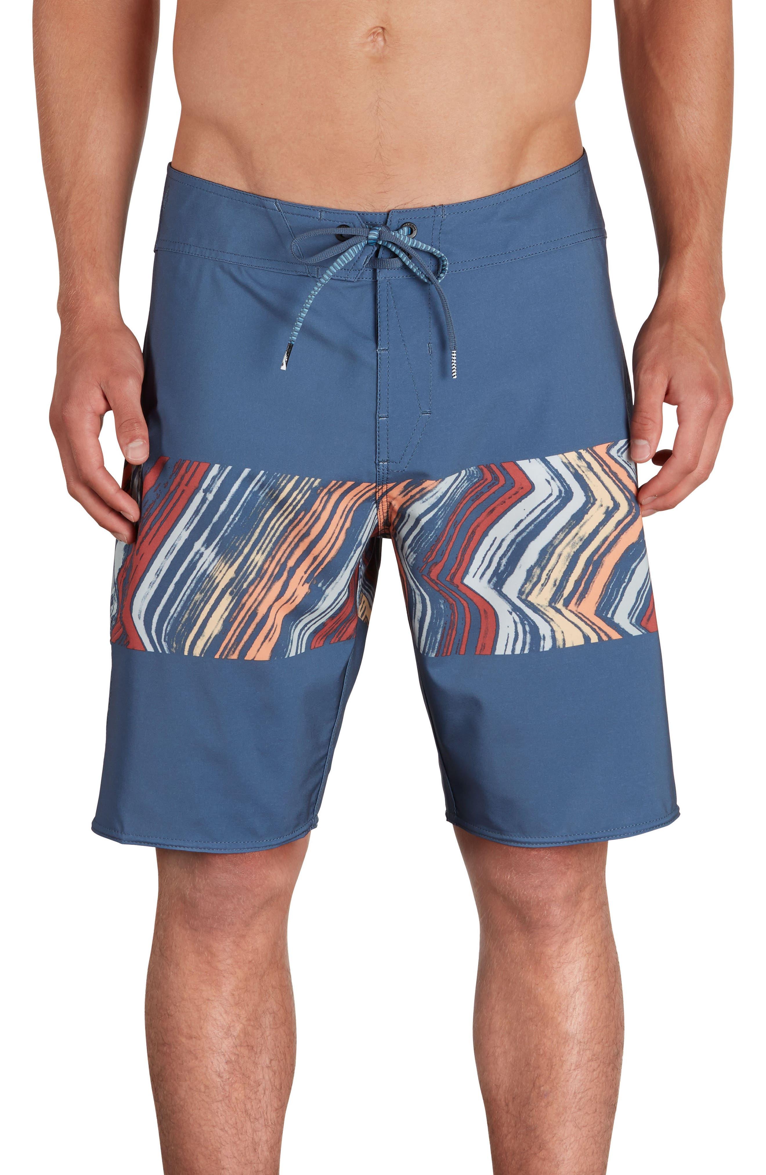 Macaw Mod Board Shorts,                         Main,                         color, Sunburst