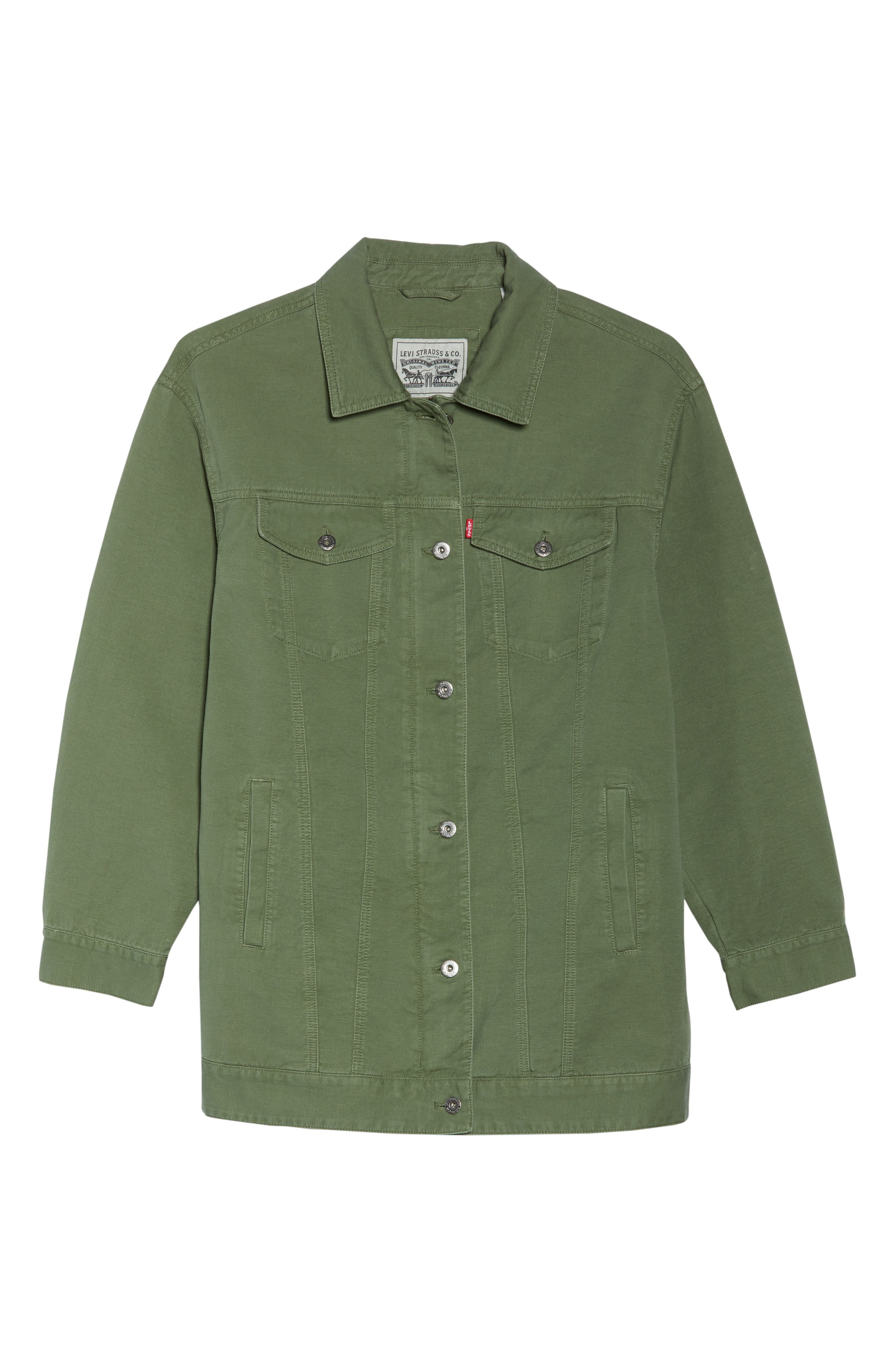 Alternate Image 6  - Levi's® Oversize Cotton Canvas Trucker Jacket (Plus Size)