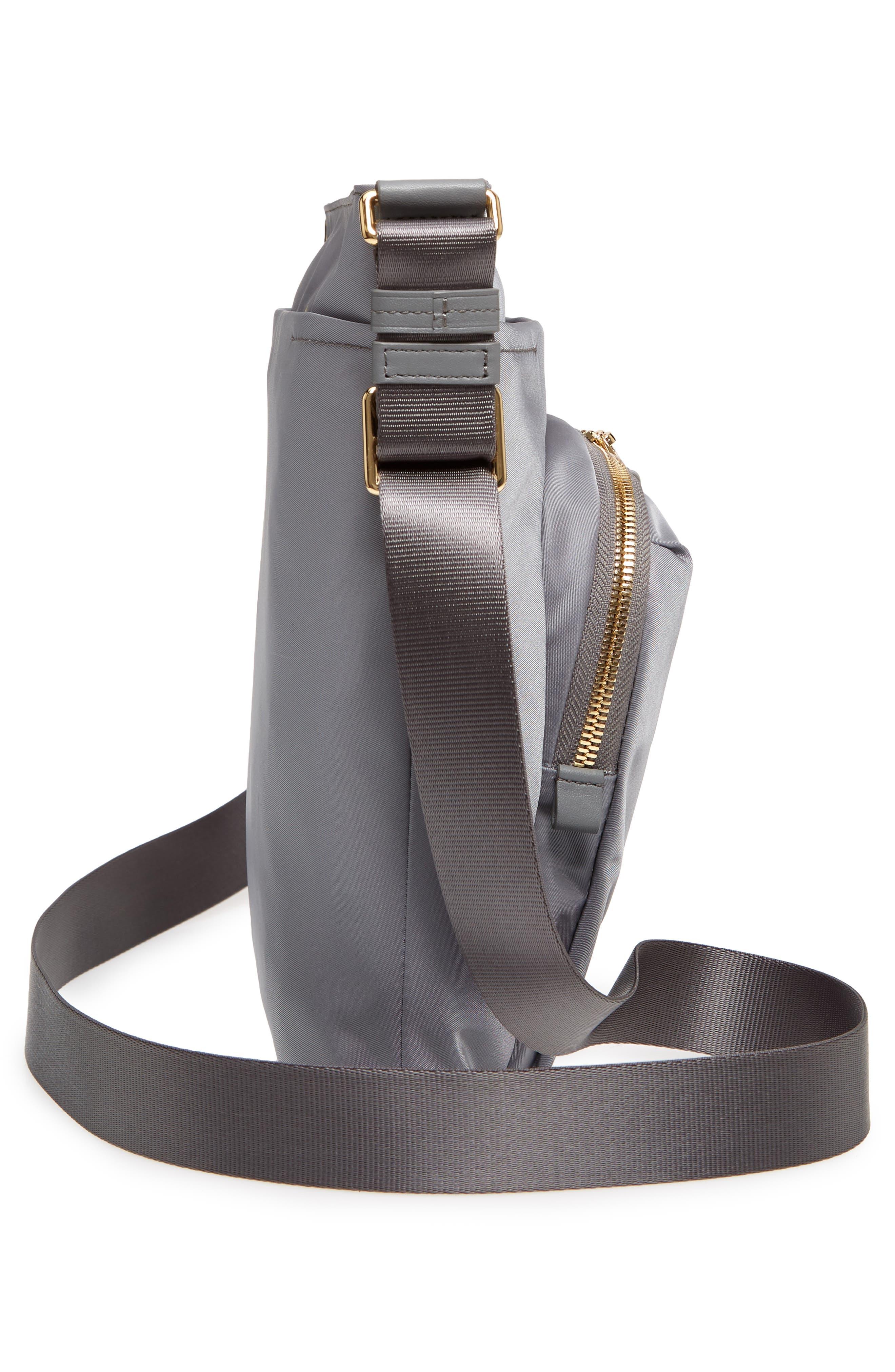 Voyager - Capri Nylon Crossbody Bag,                             Alternate thumbnail 5, color,                             Grey