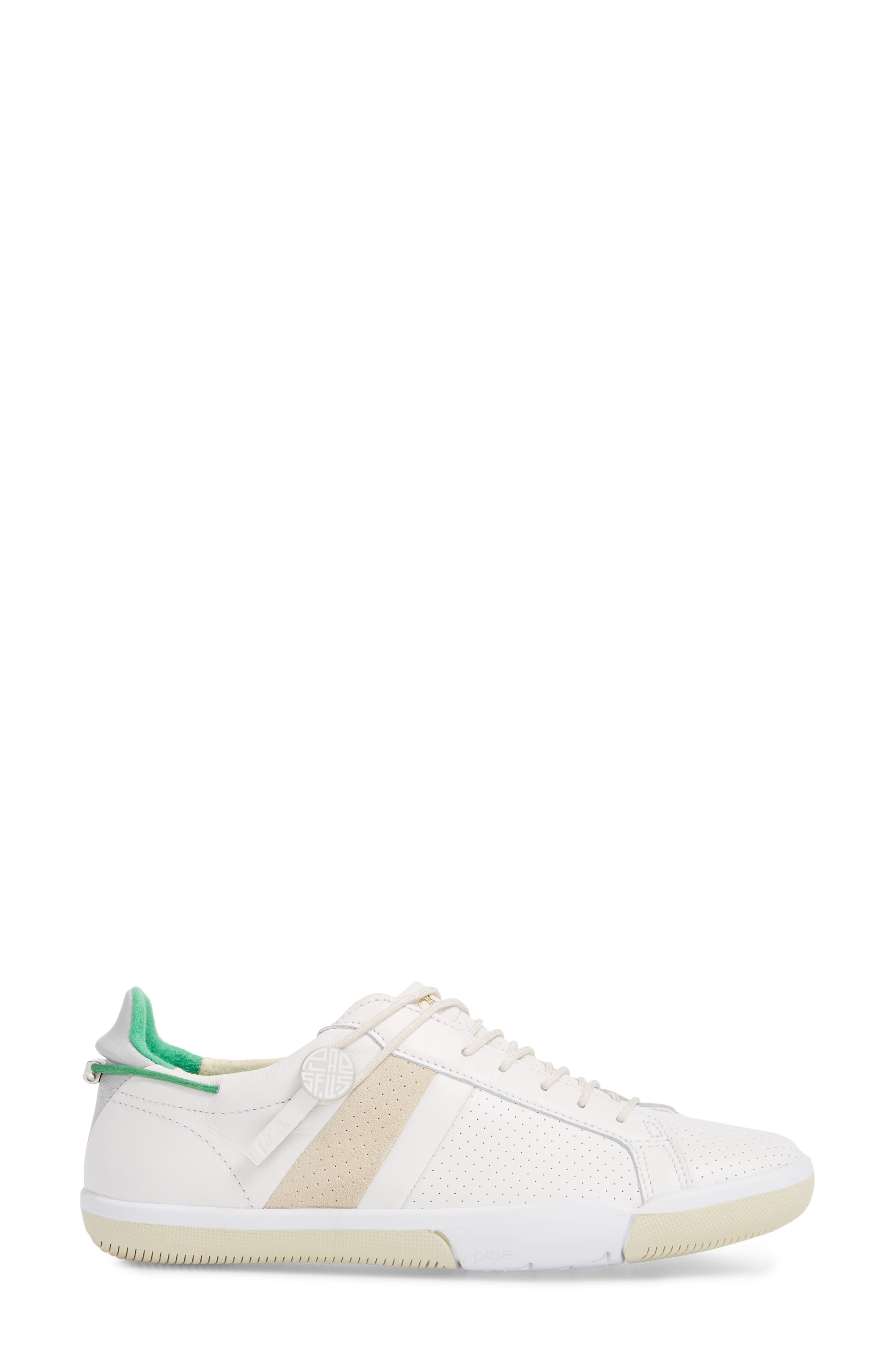 Mulberry Sneaker,                             Alternate thumbnail 3, color,                             White Leather