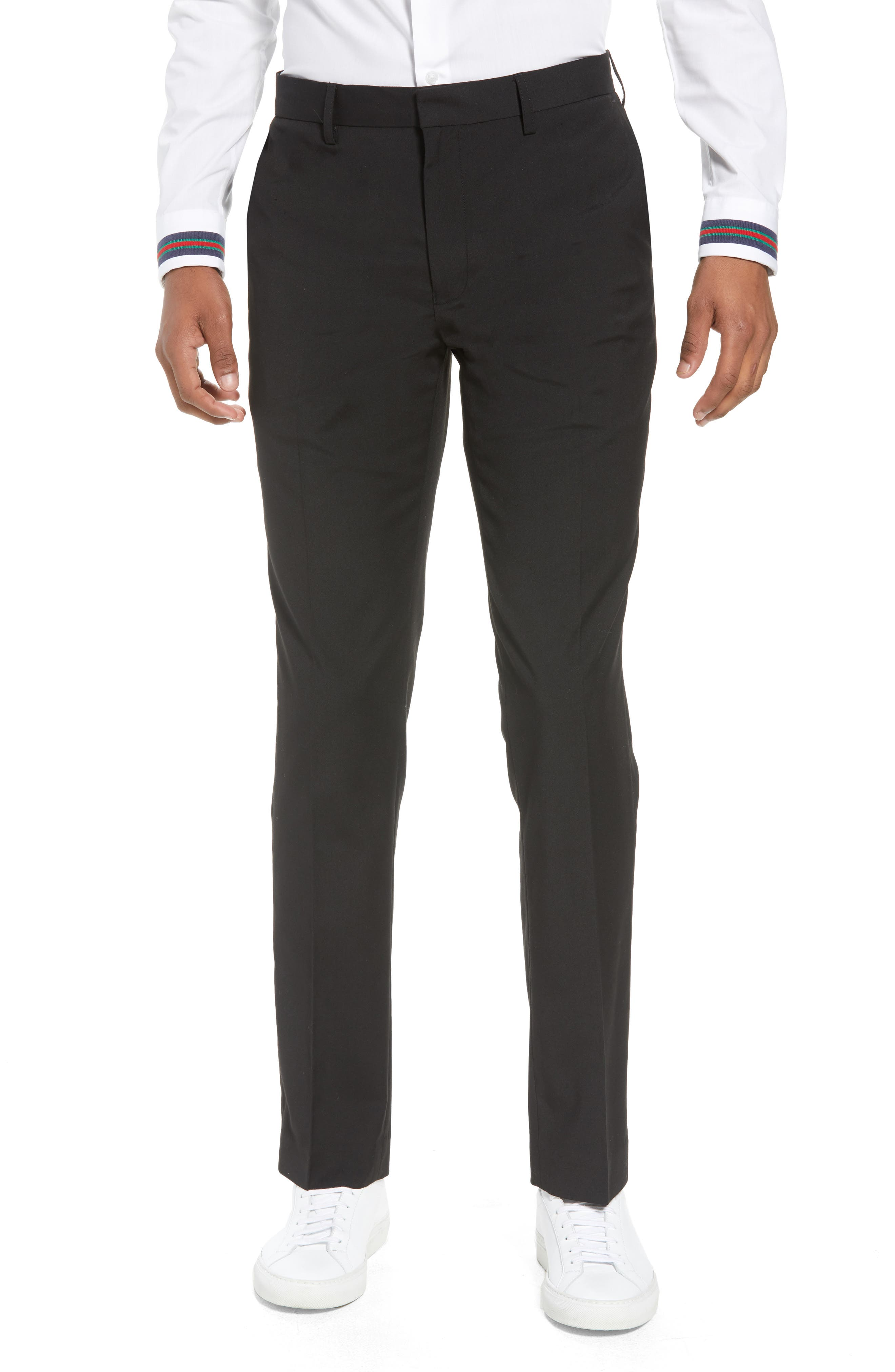 Skinny Fit Suit Pants,                         Main,                         color, Black