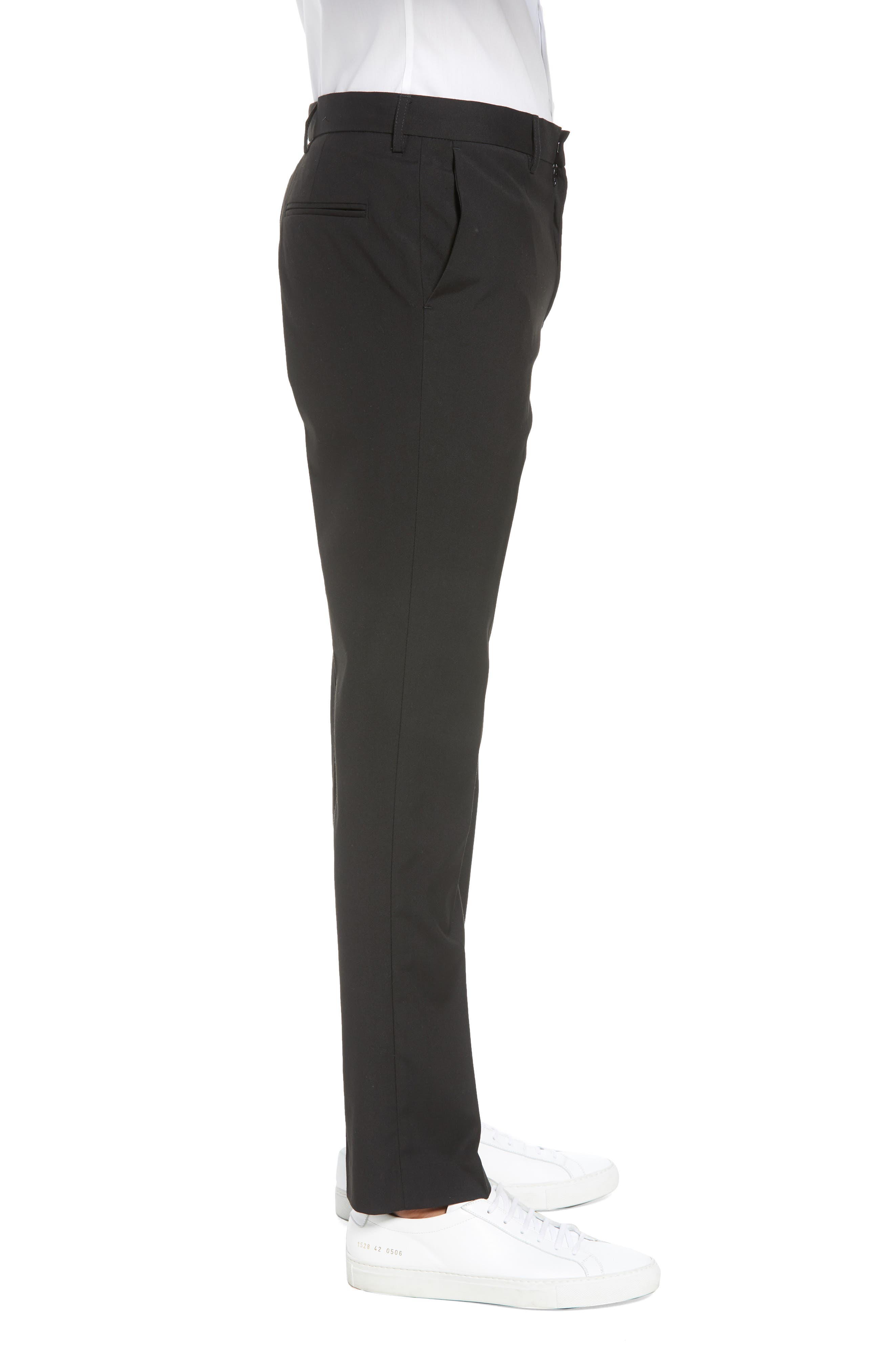 Skinny Fit Suit Pants,                             Alternate thumbnail 3, color,                             Black