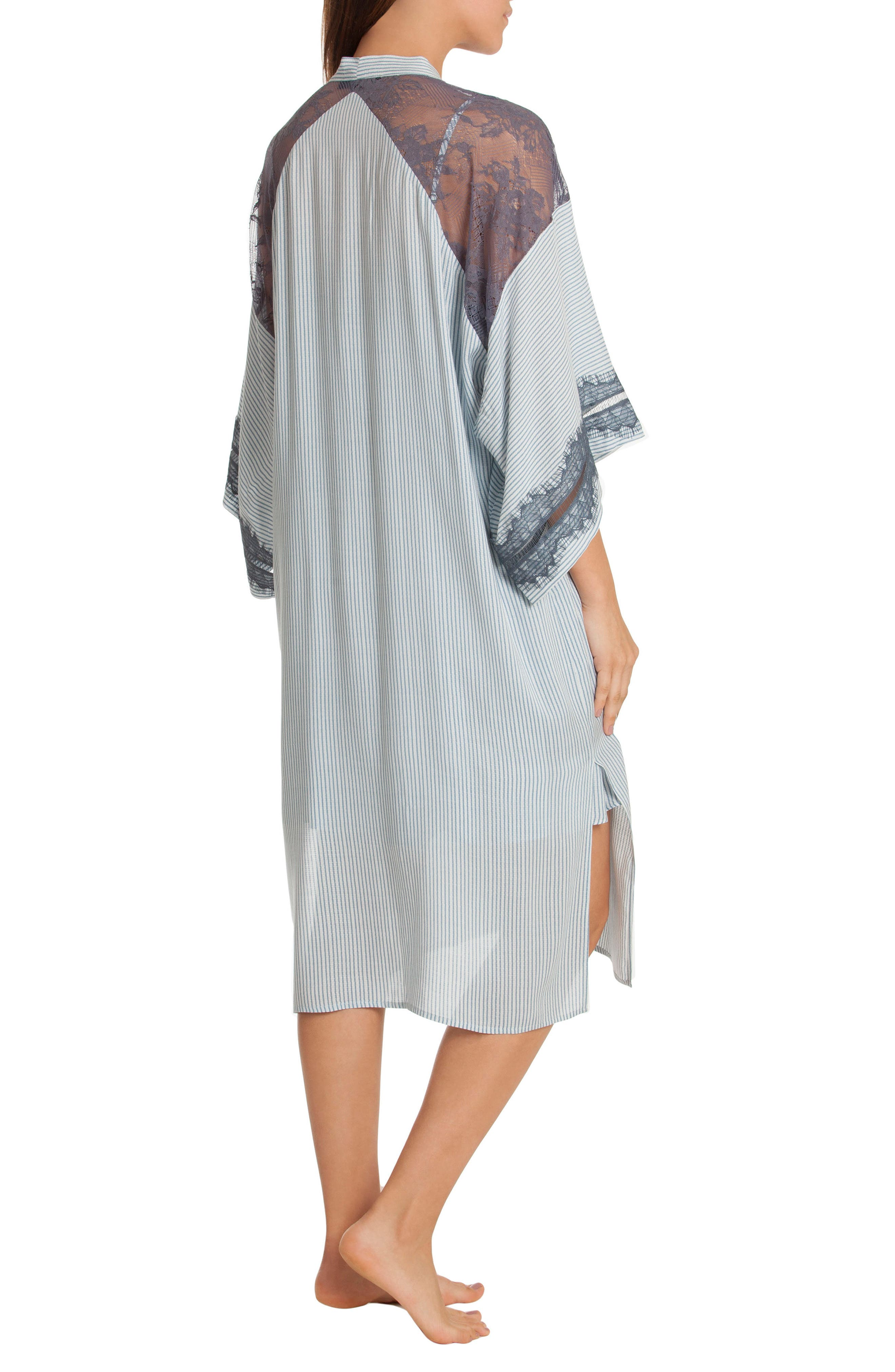 Kimono Robe,                             Alternate thumbnail 2, color,                             Denim Stripe