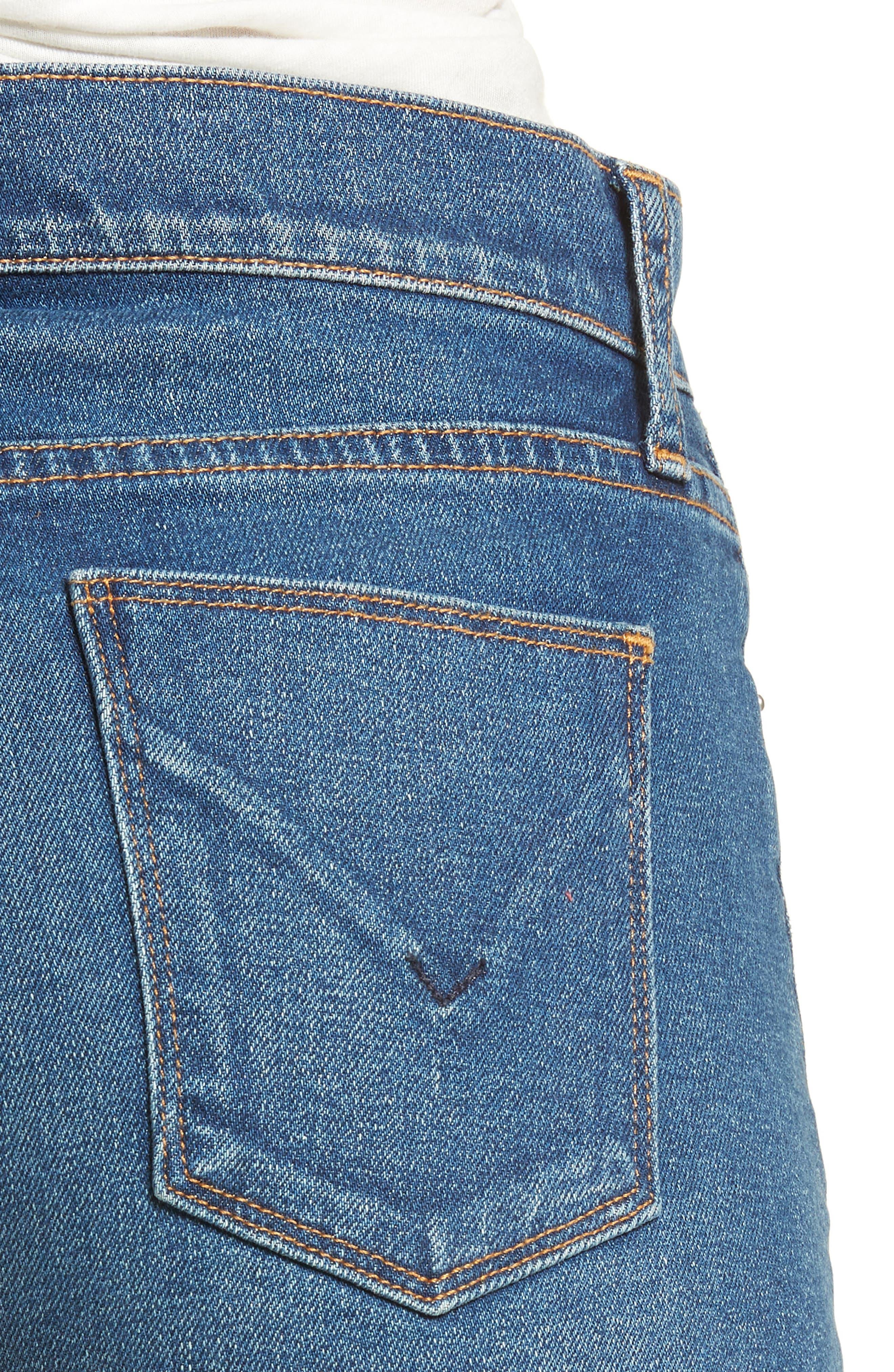 Valeri Cutoff Denim Shorts,                             Alternate thumbnail 4, color,                             Take Flight