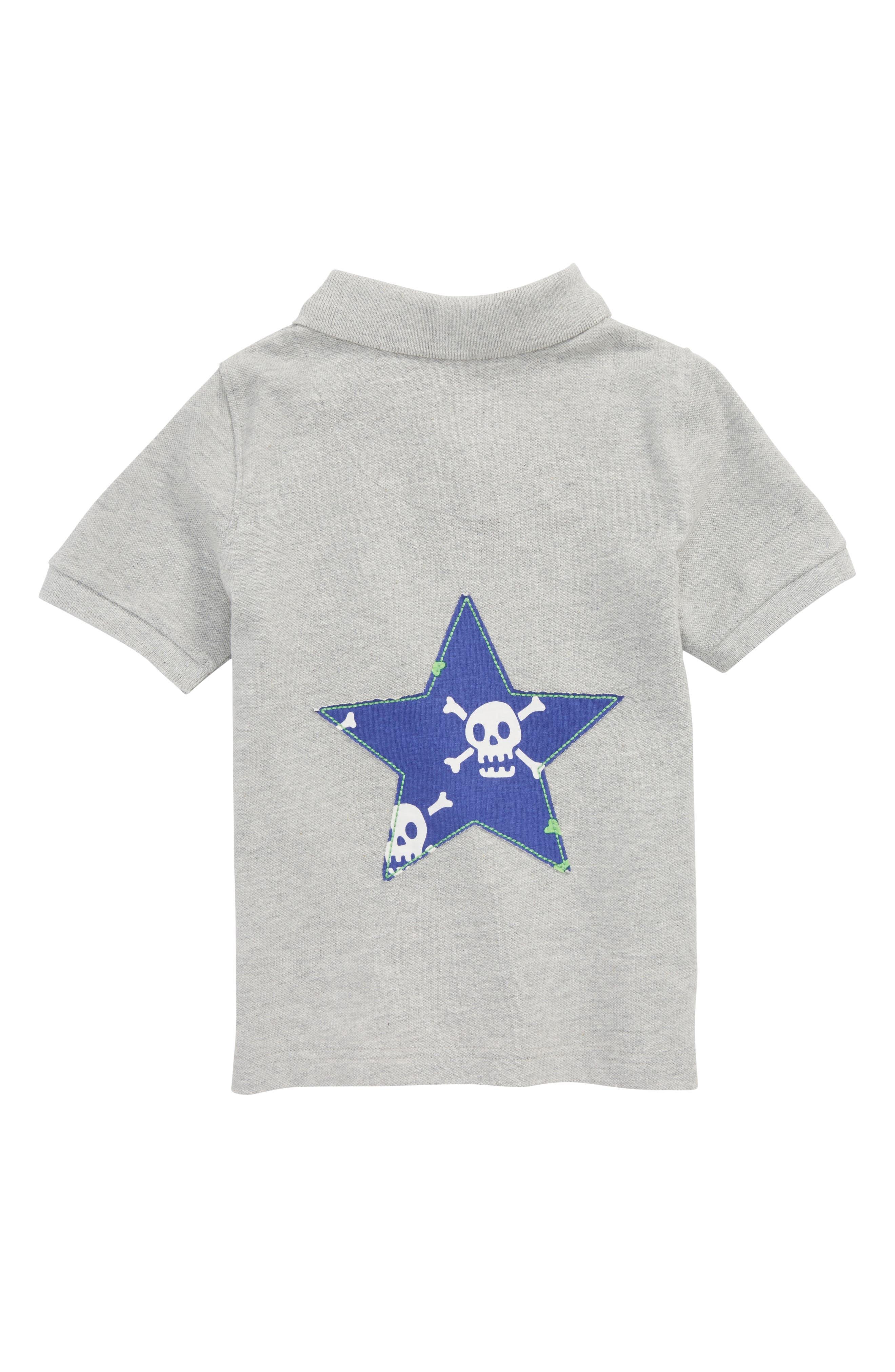 Alternate Image 2  - Mini Boden Skull Star Piqué Polo (Toddler Boys, Little Boys & Big Boys)