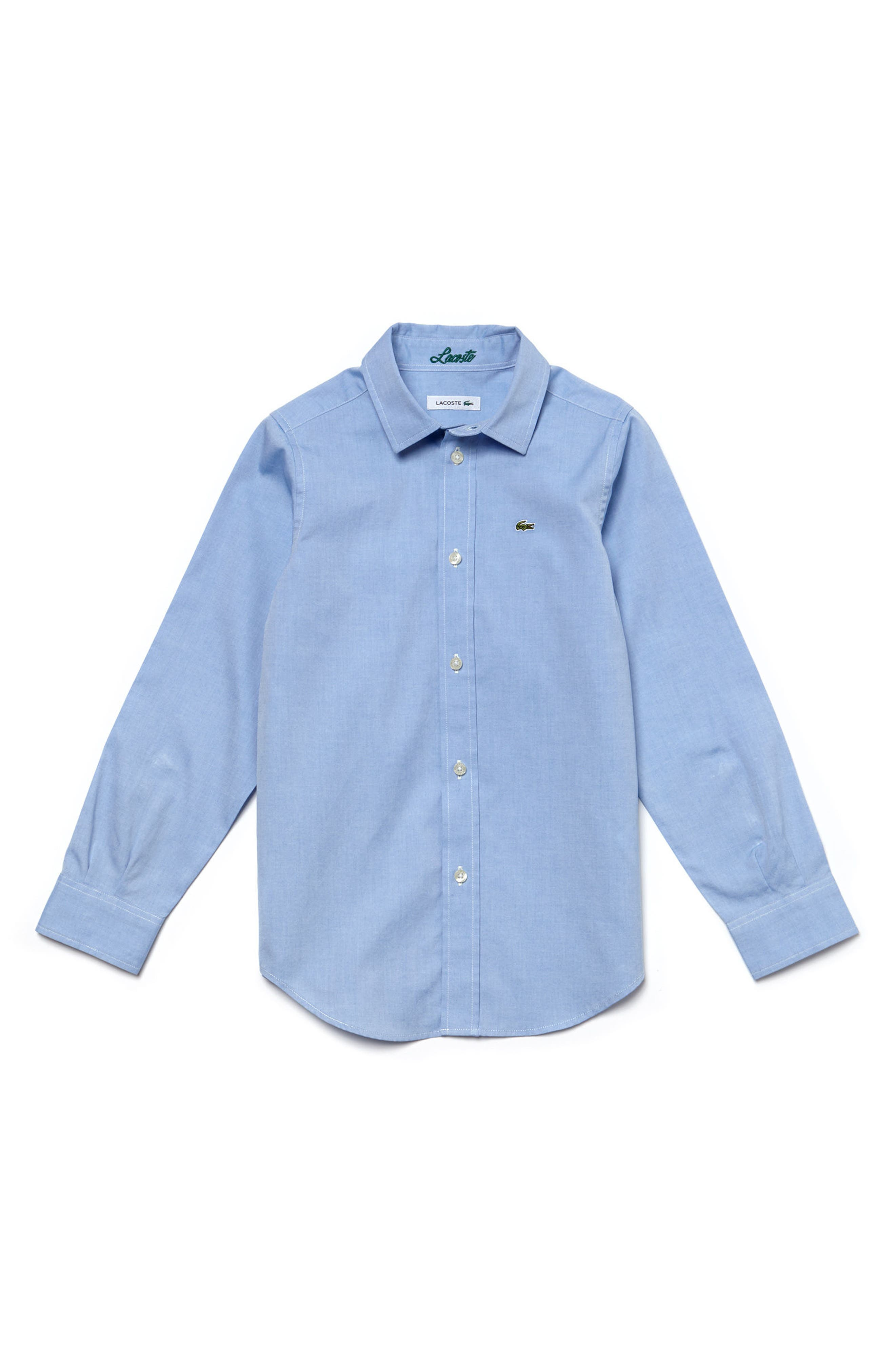 Alternate Image 1 Selected - Lacoste Classic Oxford Shirt (Little Boys)