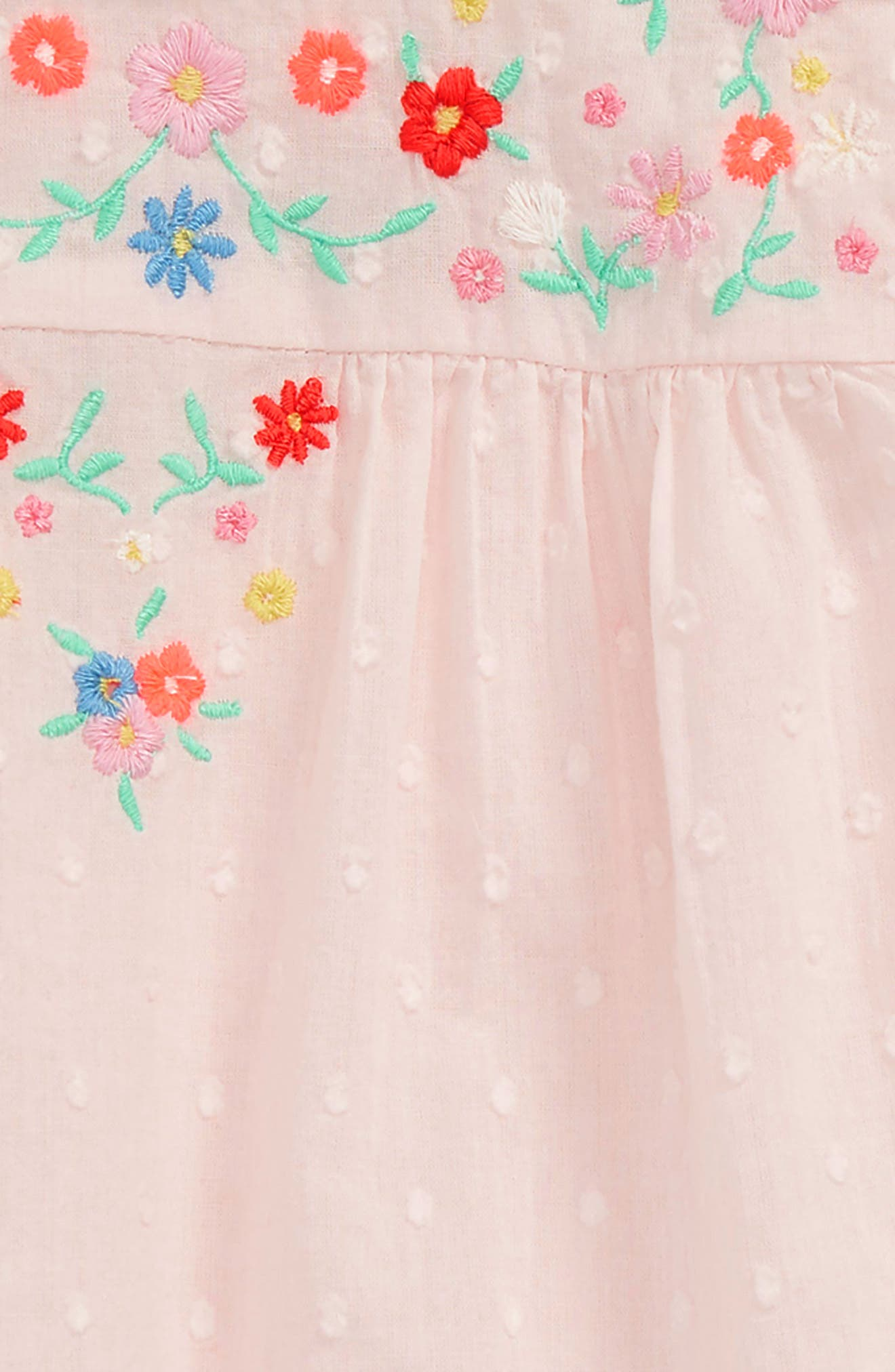 Pretty Frill Dress,                             Alternate thumbnail 2, color,                             Mist Pink Embroidery