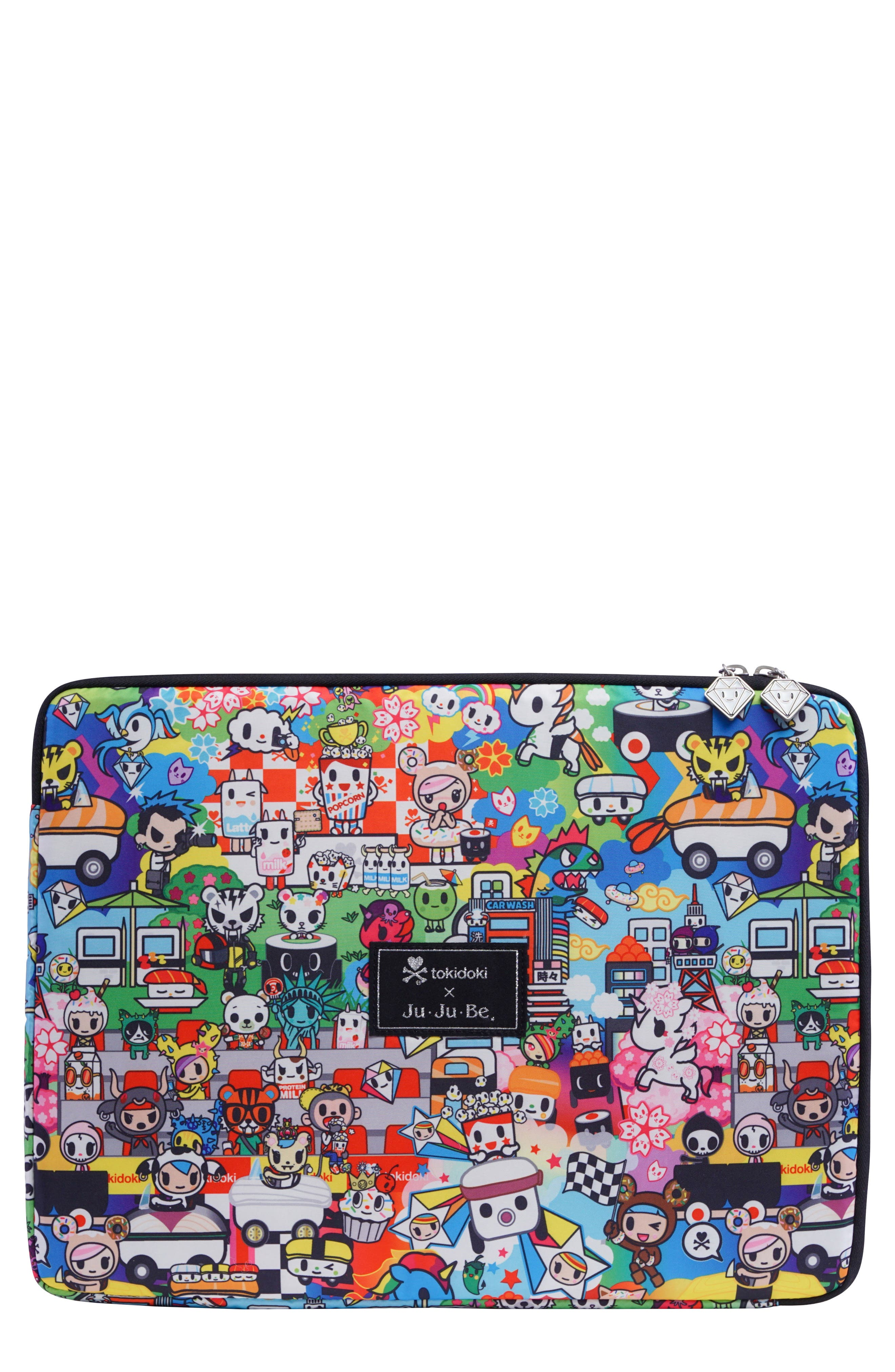 x tokidoki Mega Tech Laptop Case,                             Main thumbnail 1, color,                             Sushi Cars