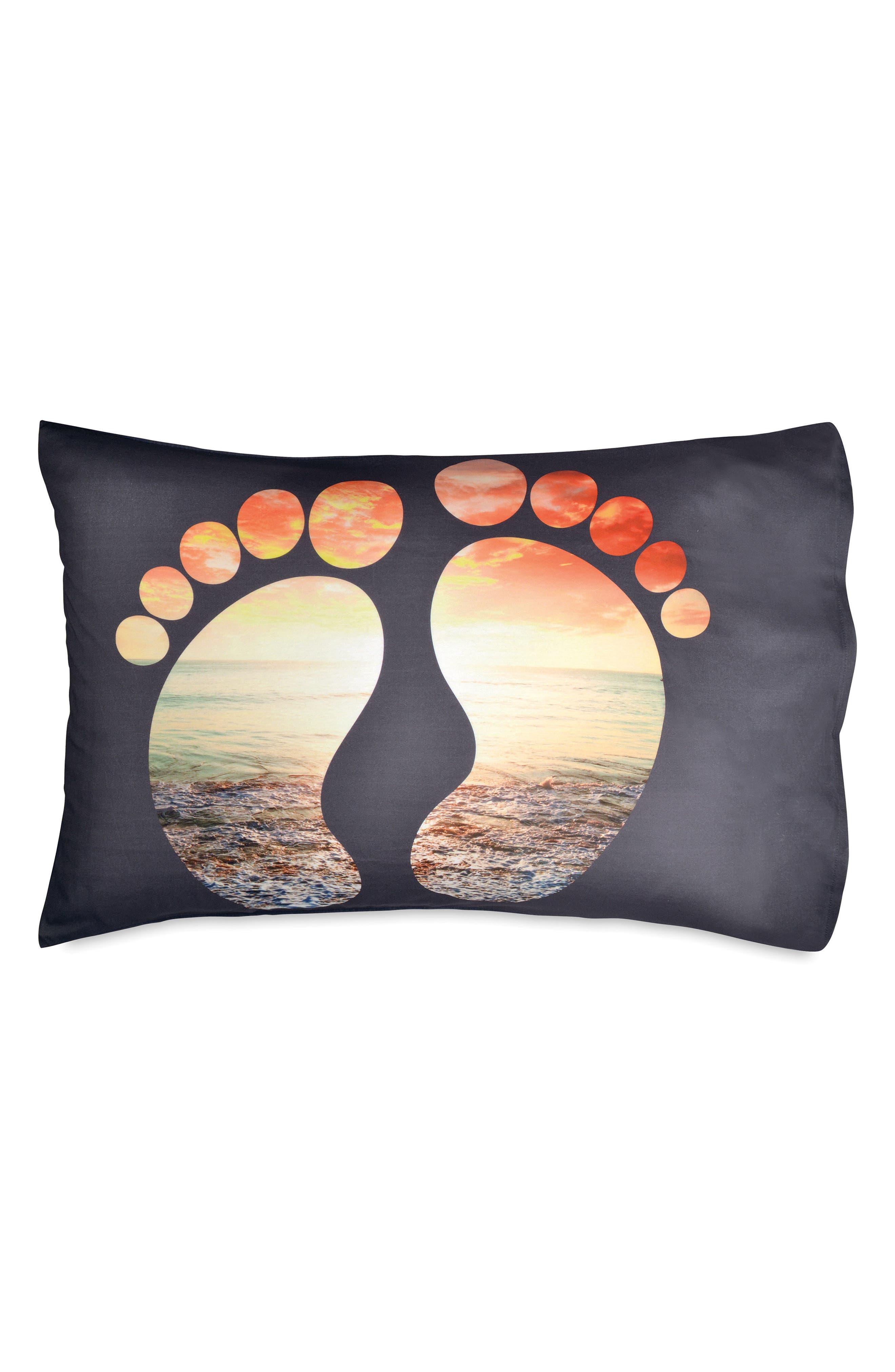 Feet Pillowcase,                         Main,                         color, Navy
