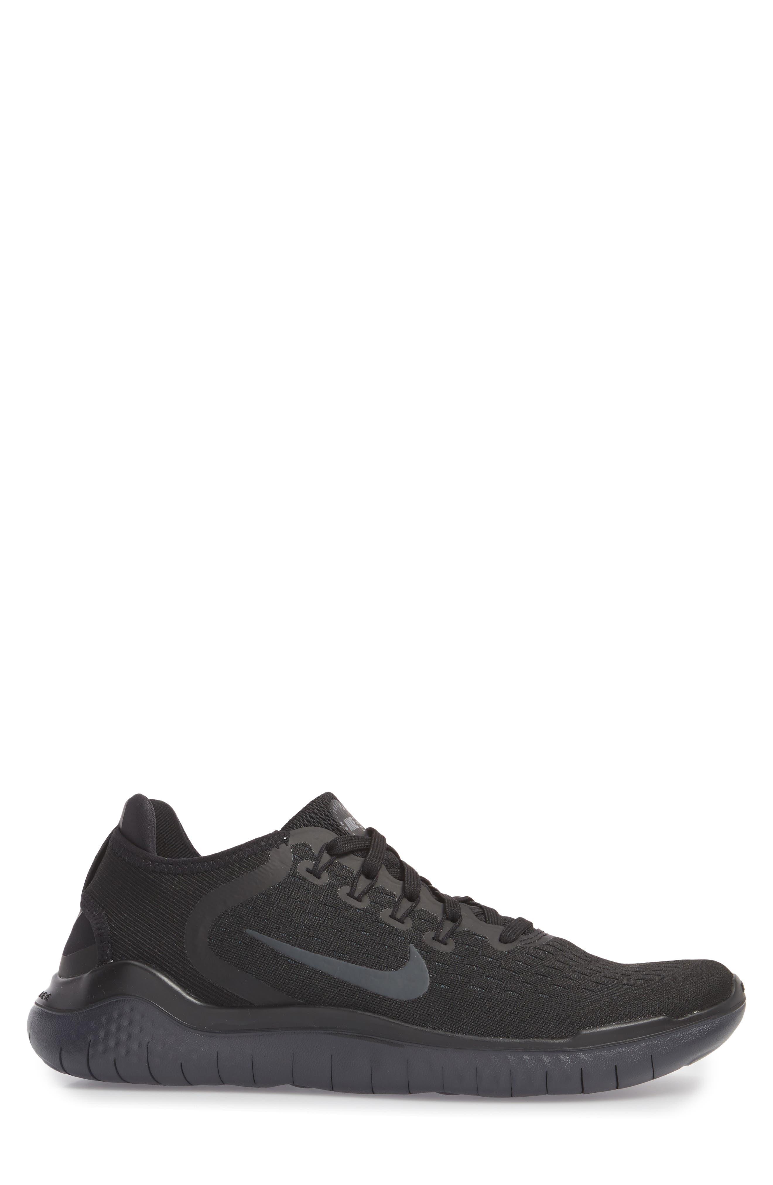 Free RN 2018 Running Shoe,                             Alternate thumbnail 3, color,                             Black/ Anthracite