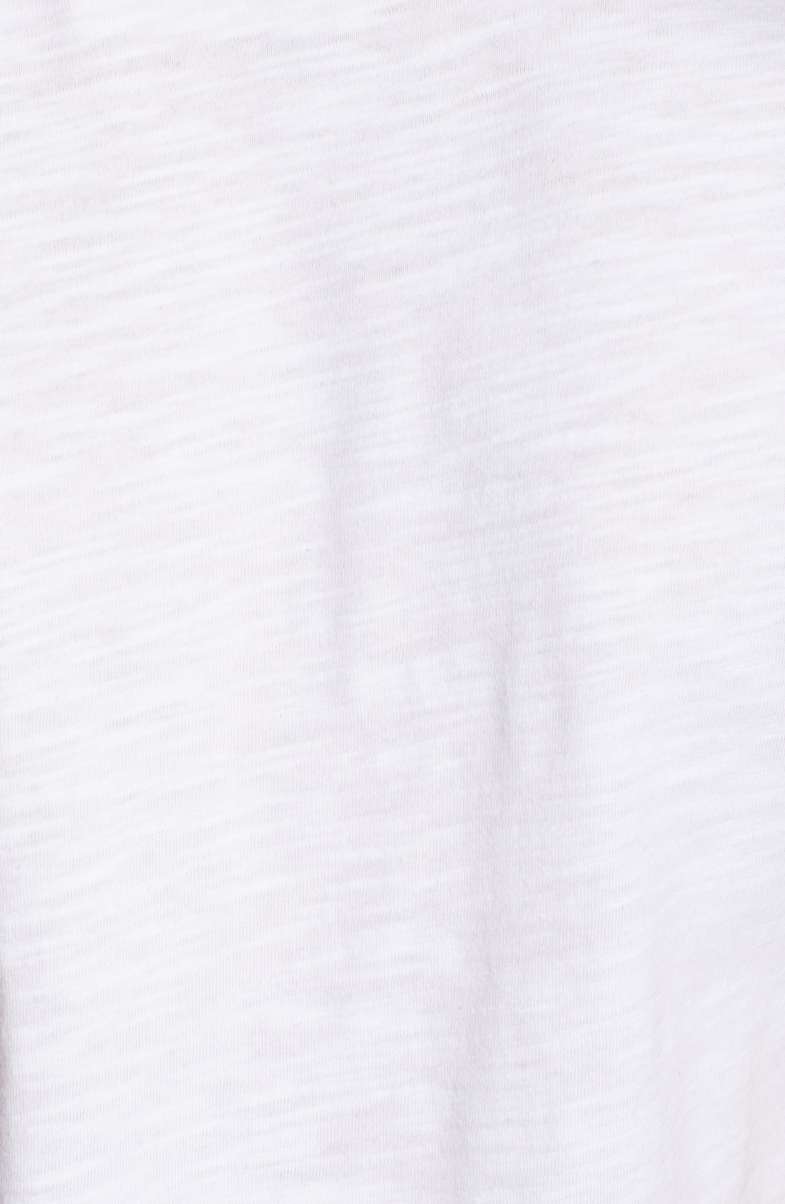 Sleeping Embroidered Tee,                             Alternate thumbnail 6, color,                             White