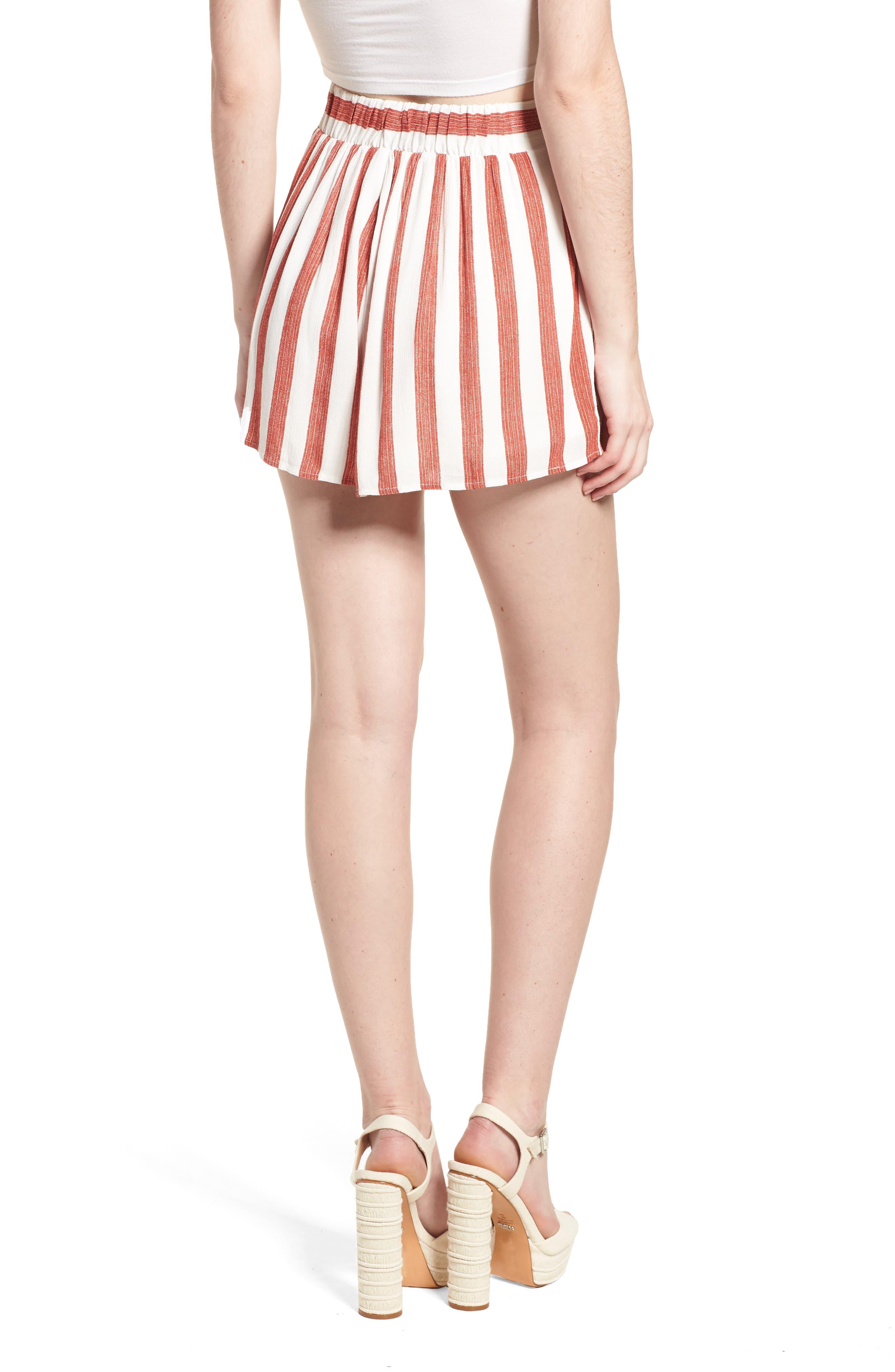 Stripe Shorts,                             Alternate thumbnail 3, color,                             Red/ Ivory