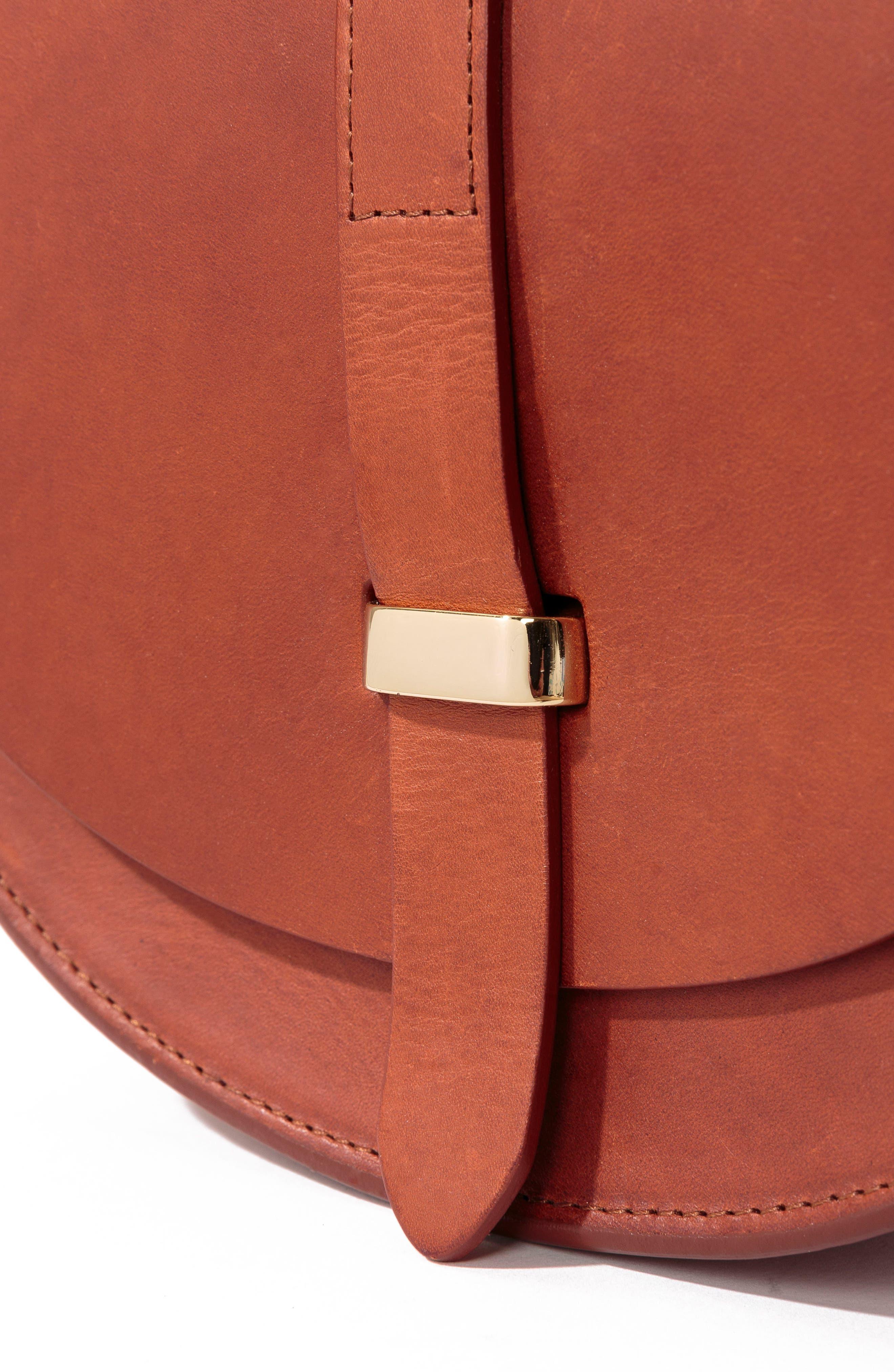 Claude Crossbody Bag,                             Alternate thumbnail 6, color,                             Chocolate