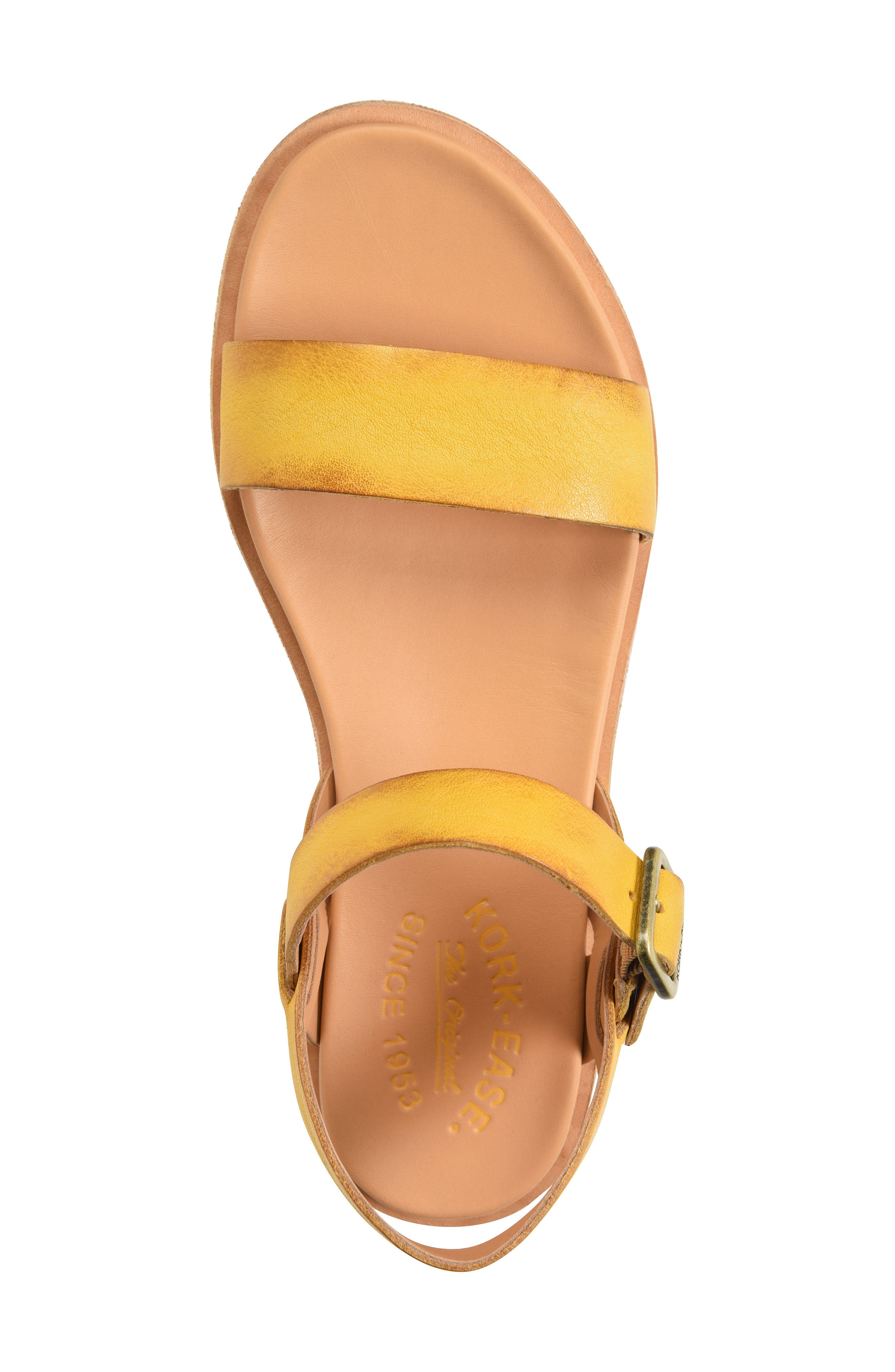 Yucca Sandal,                             Alternate thumbnail 4, color,                             Yellow Leather