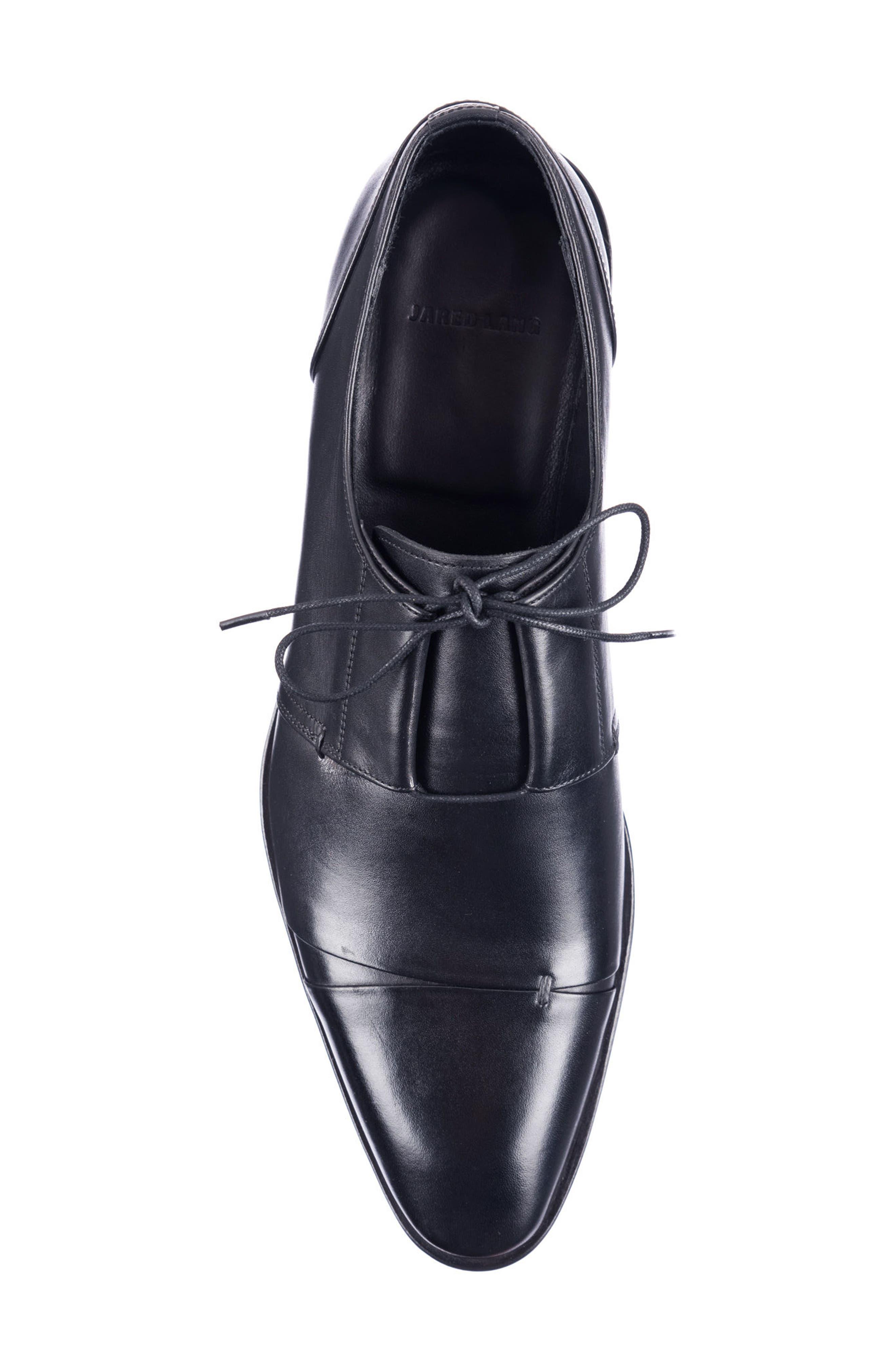 Danny Cap Toe Derby,                             Alternate thumbnail 5, color,                             Black Leather