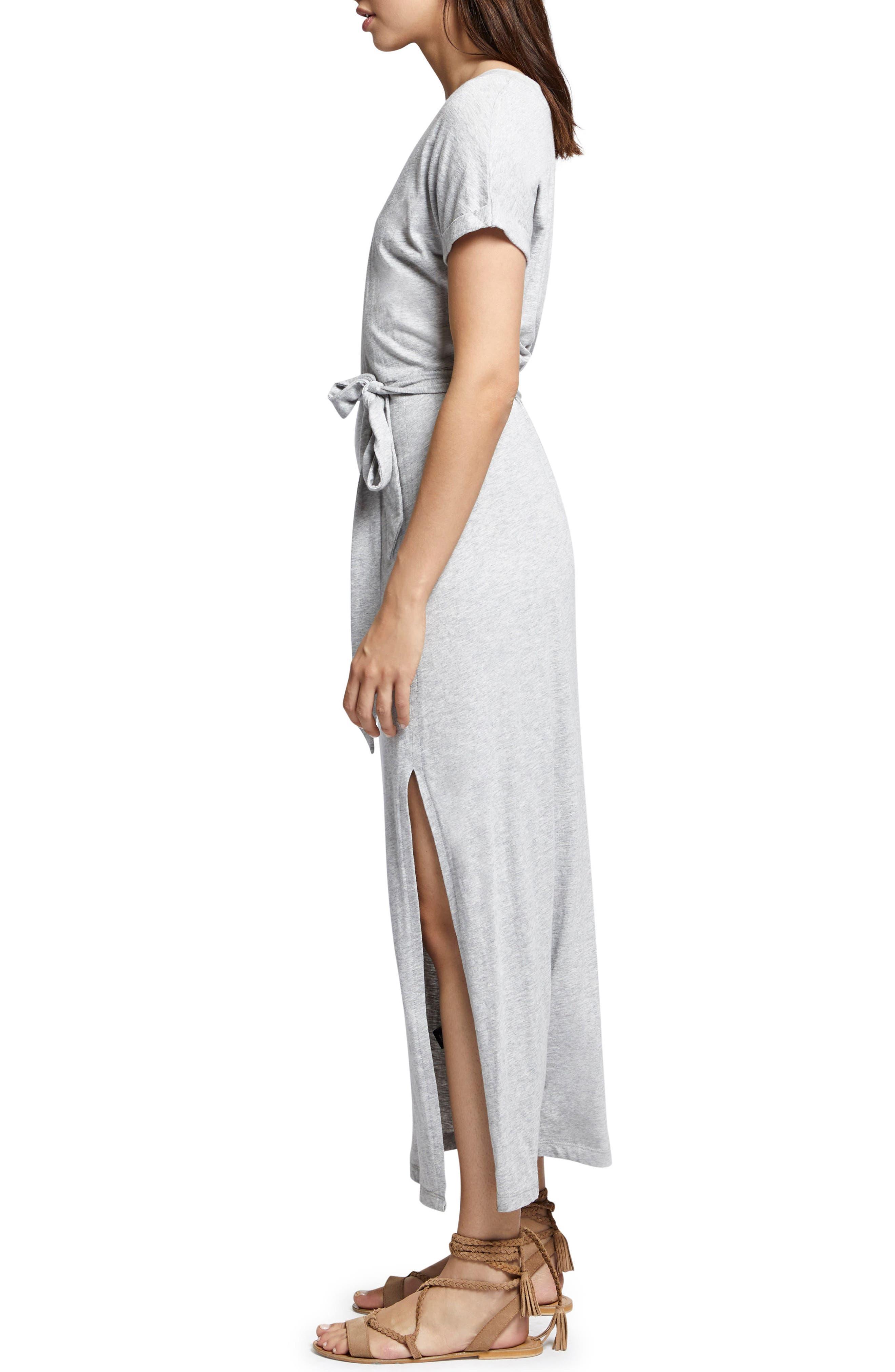 Isle Maxi Dress,                             Alternate thumbnail 3, color,                             Heather Grey