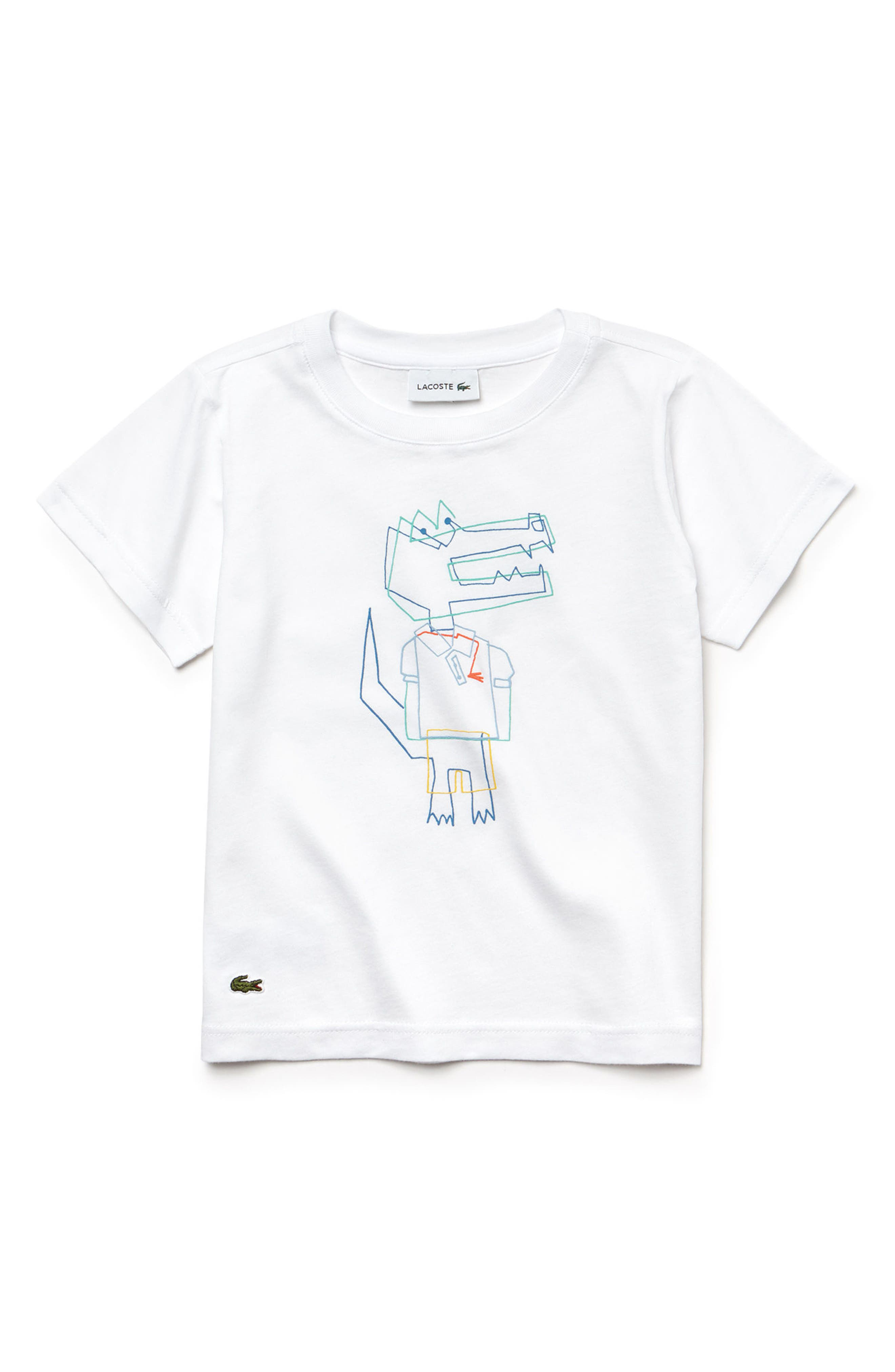 Alternate Image 1 Selected - Lacoste Crocoline Graphic T-Shirt (Toddler Boys & Little Boys)