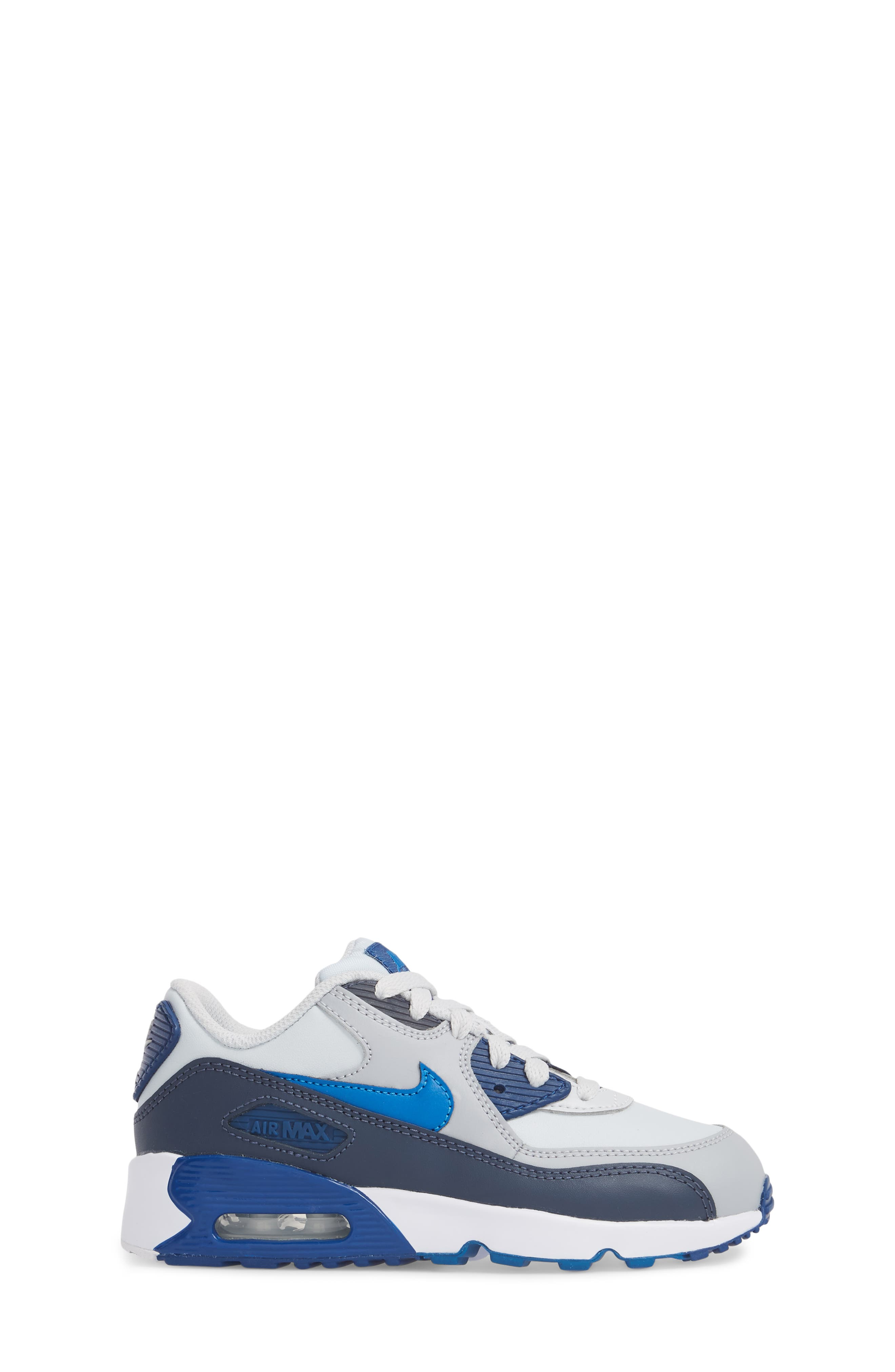 Air Max 90 Sneaker,                             Alternate thumbnail 3, color,                             Blue Nebula/ Wolf Grey