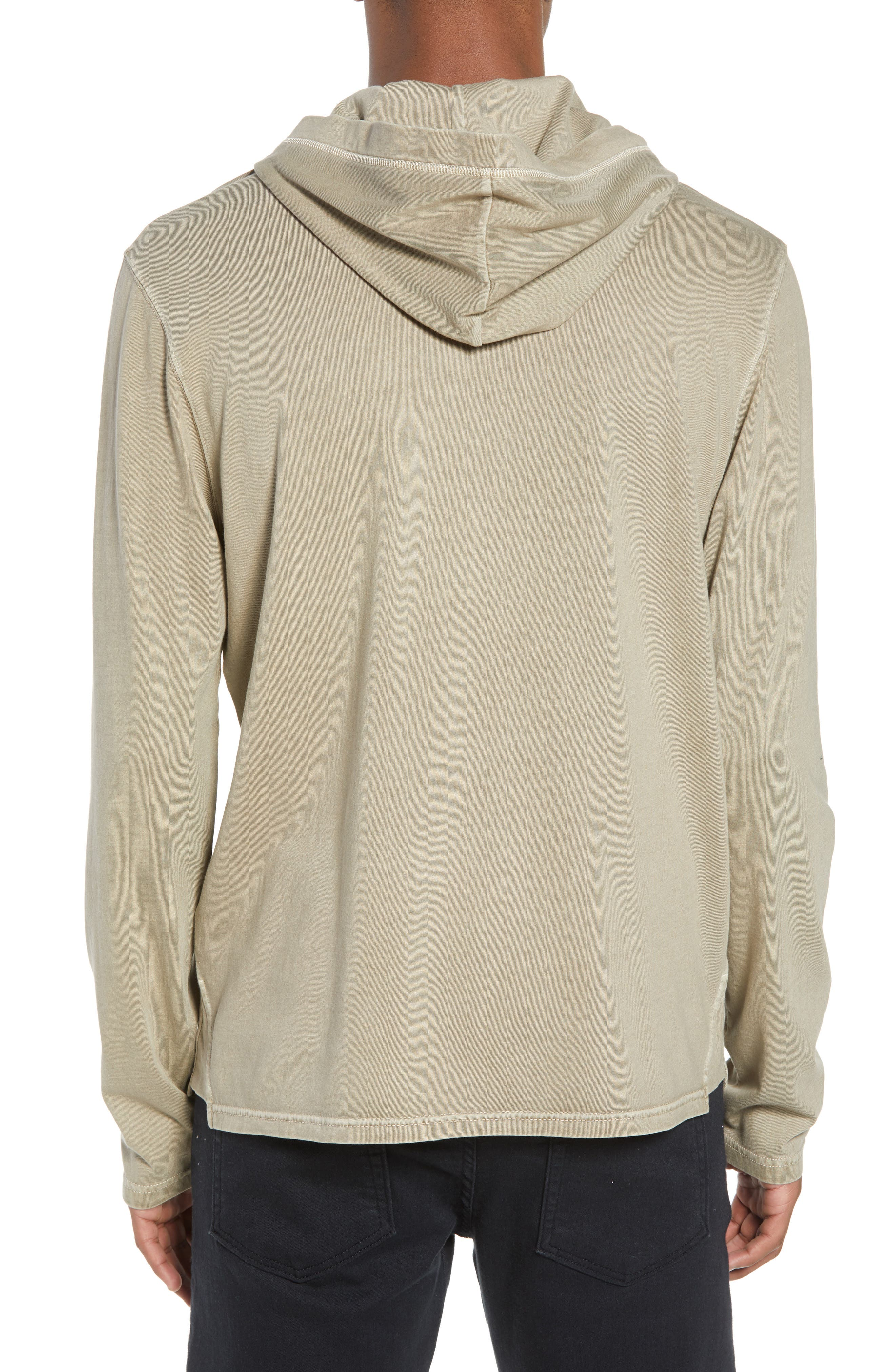 Sunfaded Jersey Hoodie,                             Alternate thumbnail 2, color,                             Tan Aluminum