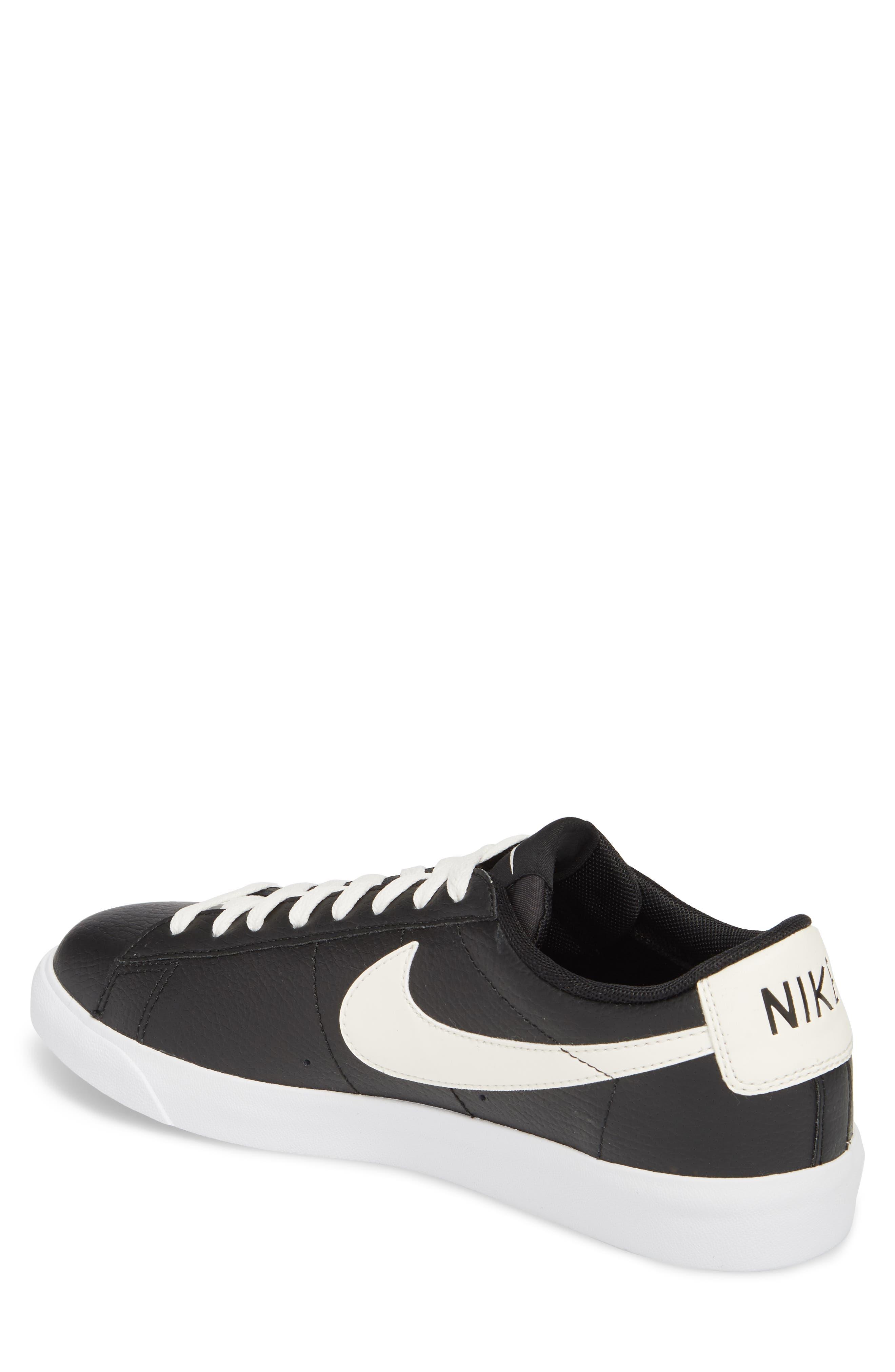 Blazer Low Leather Sneaker,                             Alternate thumbnail 2, color,                             Black/ Sail