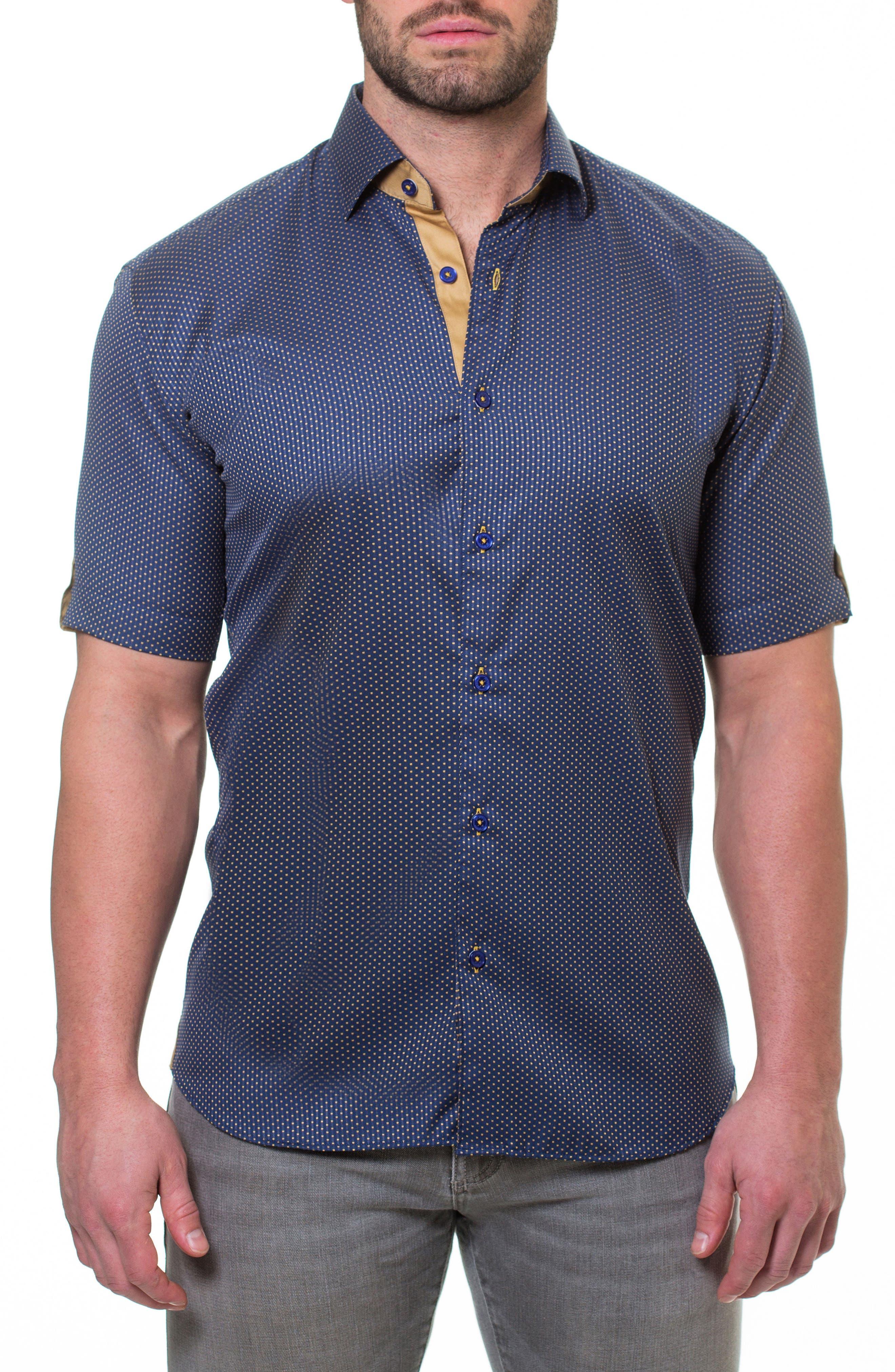 Fresh Pace Slim Fit Sport Shirt,                             Main thumbnail 1, color,                             Blue
