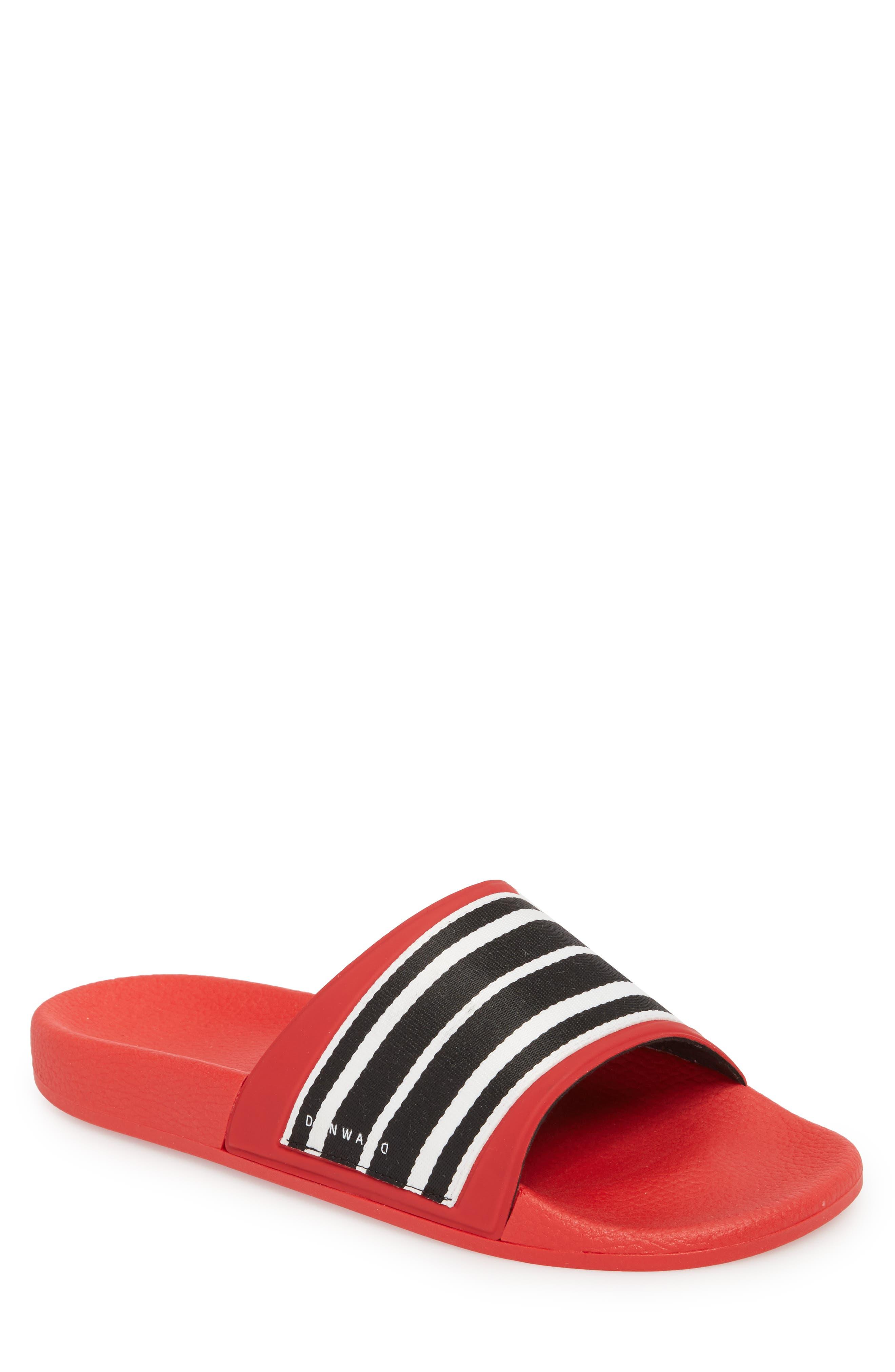 Patterned Sport Slide,                         Main,                         color, Red