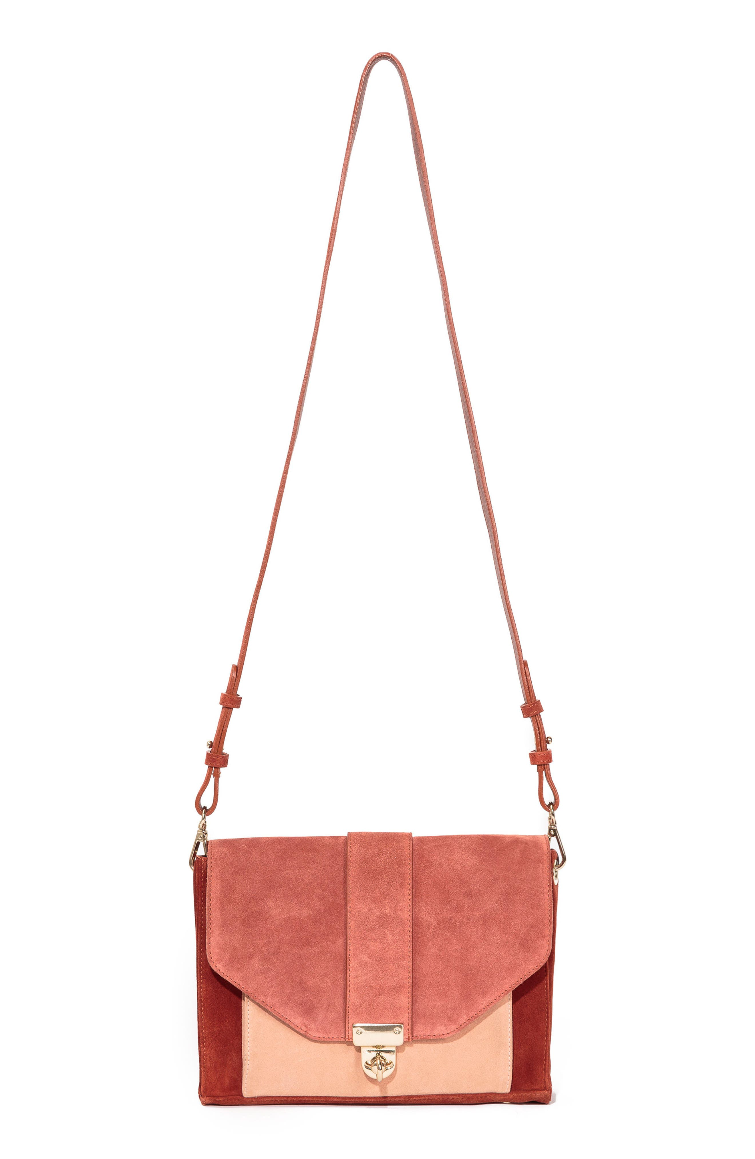 Tiger Crossbody Bag,                             Main thumbnail 1, color,                             Terracotta