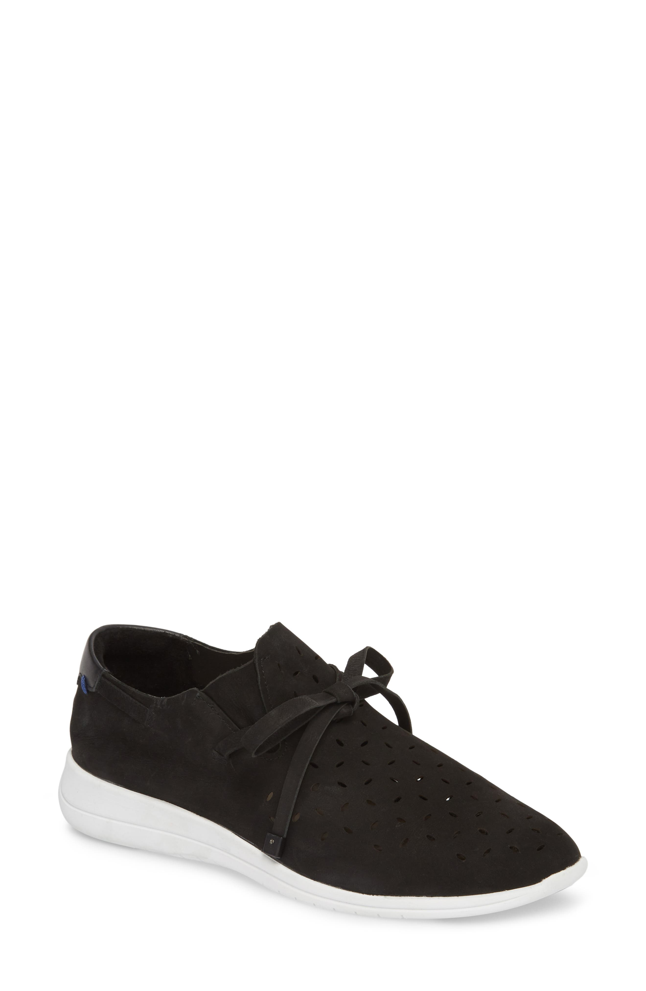 Freeport Sneaker,                         Main,                         color, Black Nubuck
