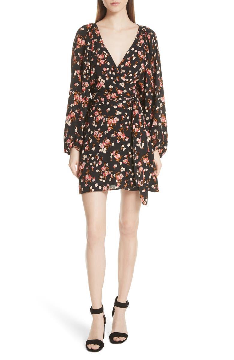 Carlo Floral Print Silk Dress