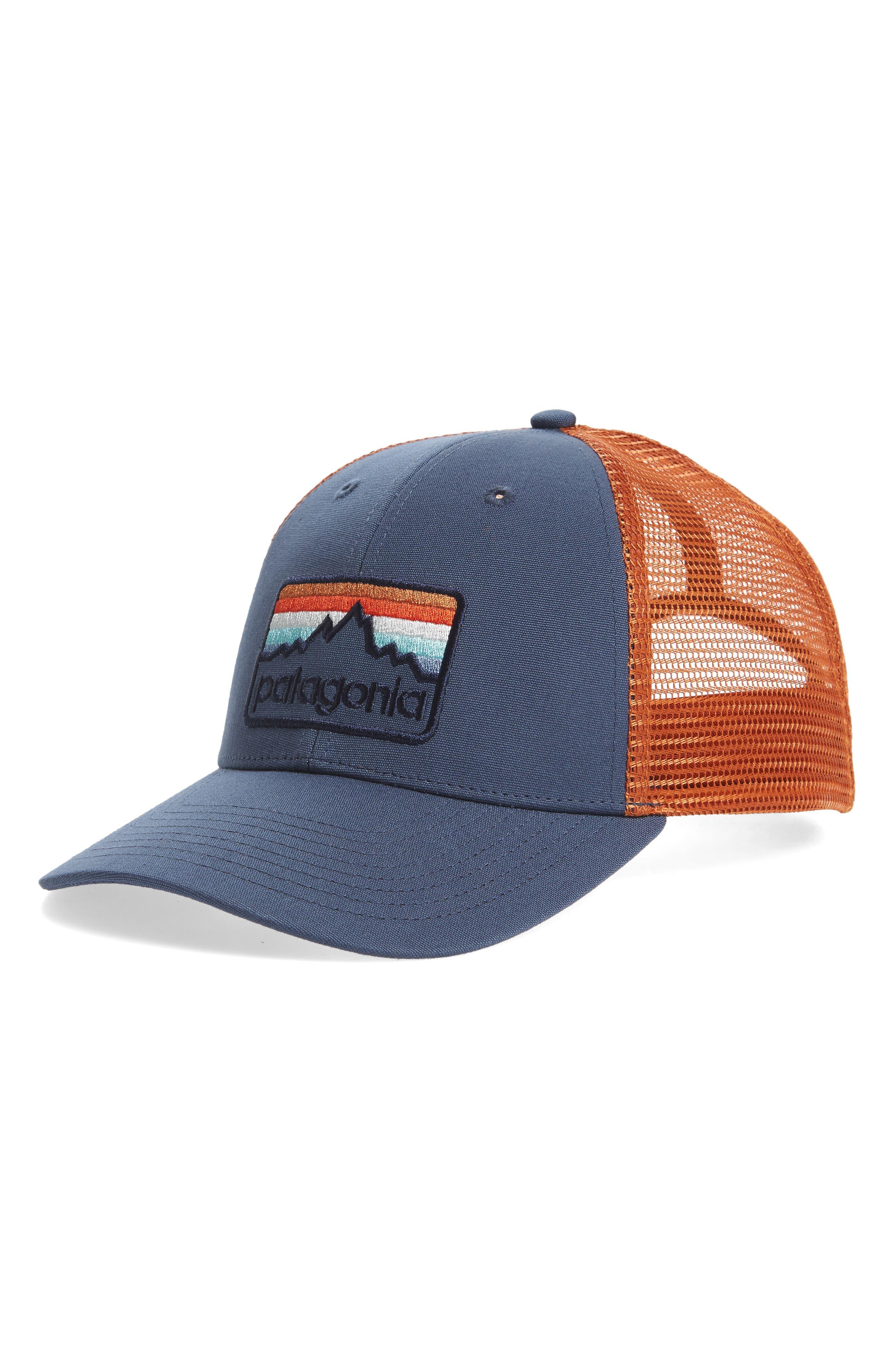 Logo Badge Trucker Hat,                             Main thumbnail 1, color,                             Dolomite Blue