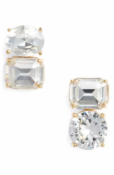 Kate Spade New York Double Drop Asymmetrical Stud Earrings