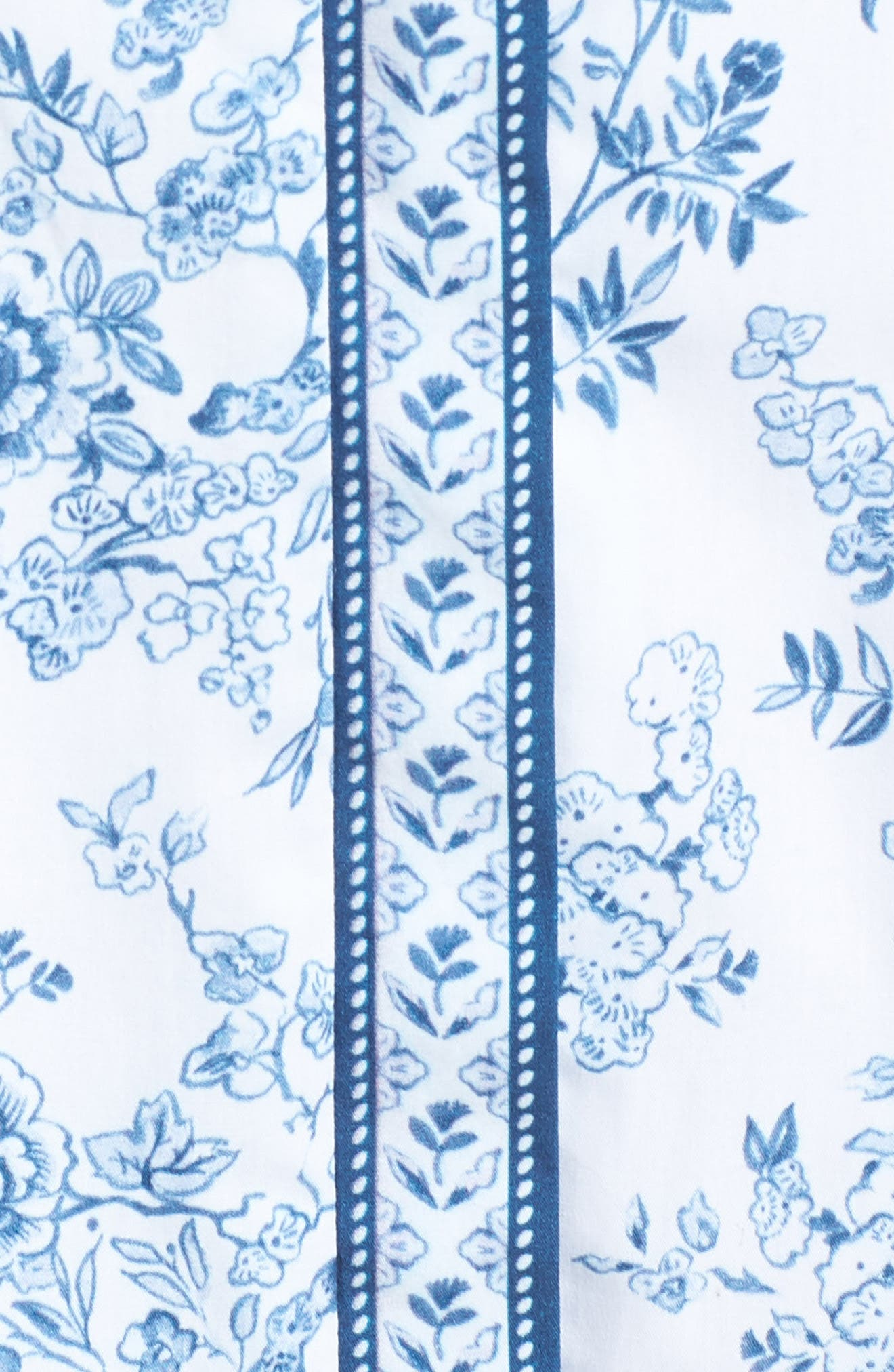 Darla Cotton Toile Shirtdress,                             Alternate thumbnail 7, color,                             Cloud/ Cornflower