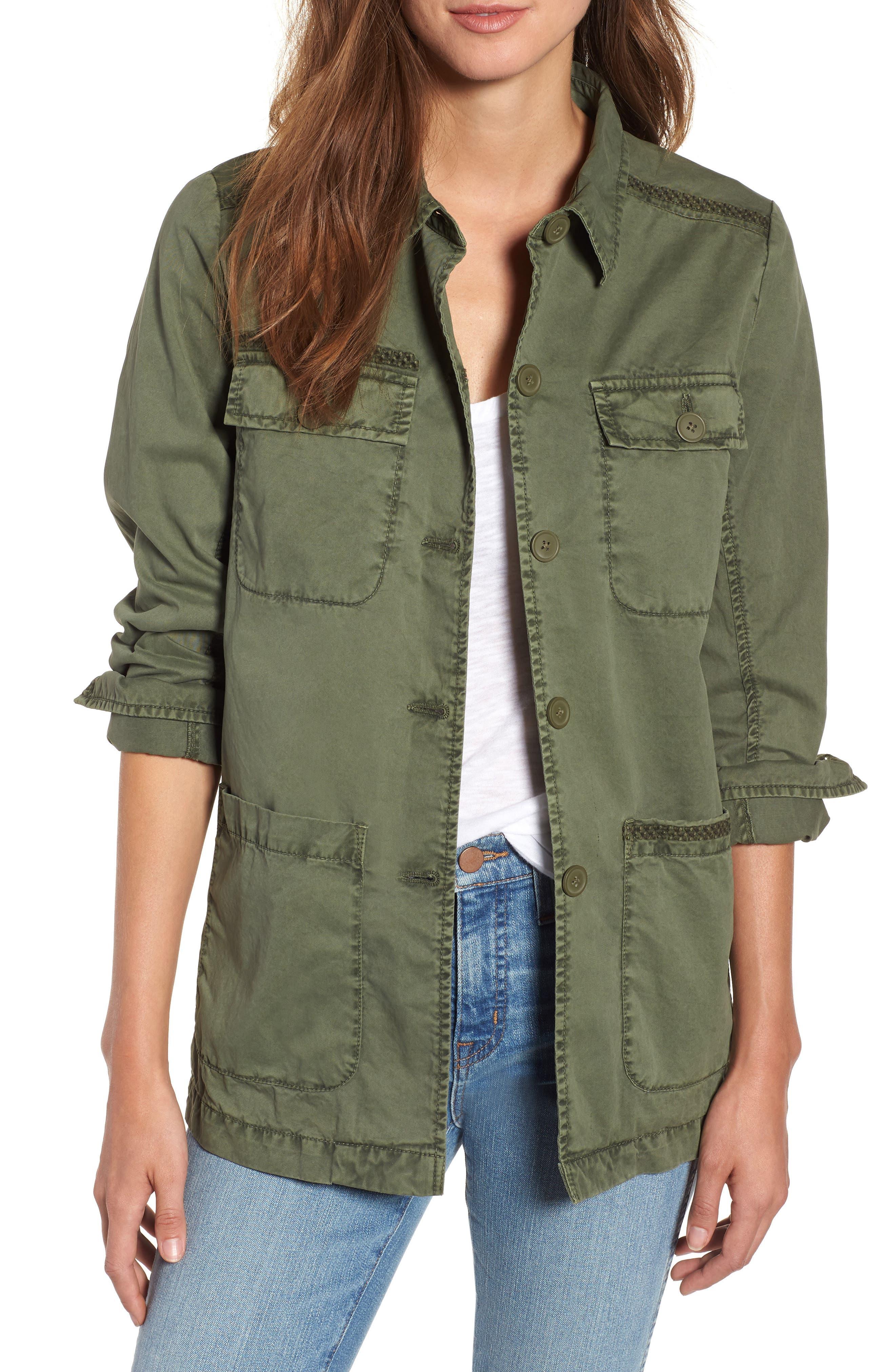 Utility Jacket,                         Main,                         color, Green Beetle