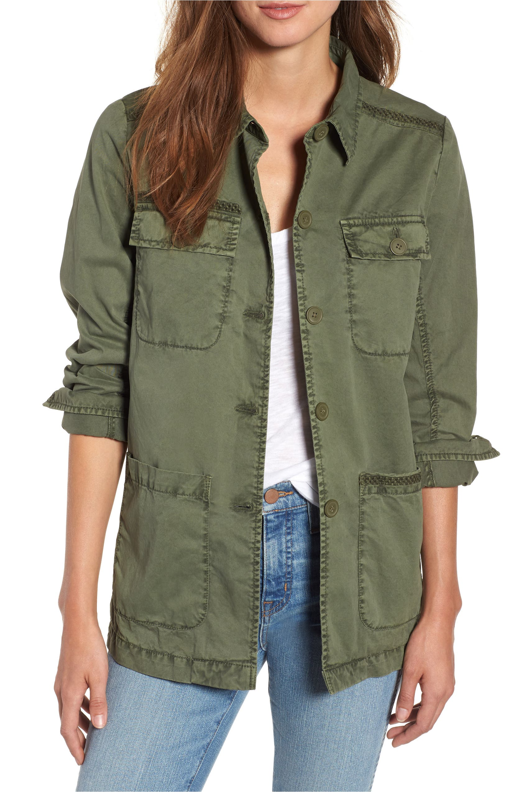 Utility Jacket,                         Main,                         color, Green Beetle