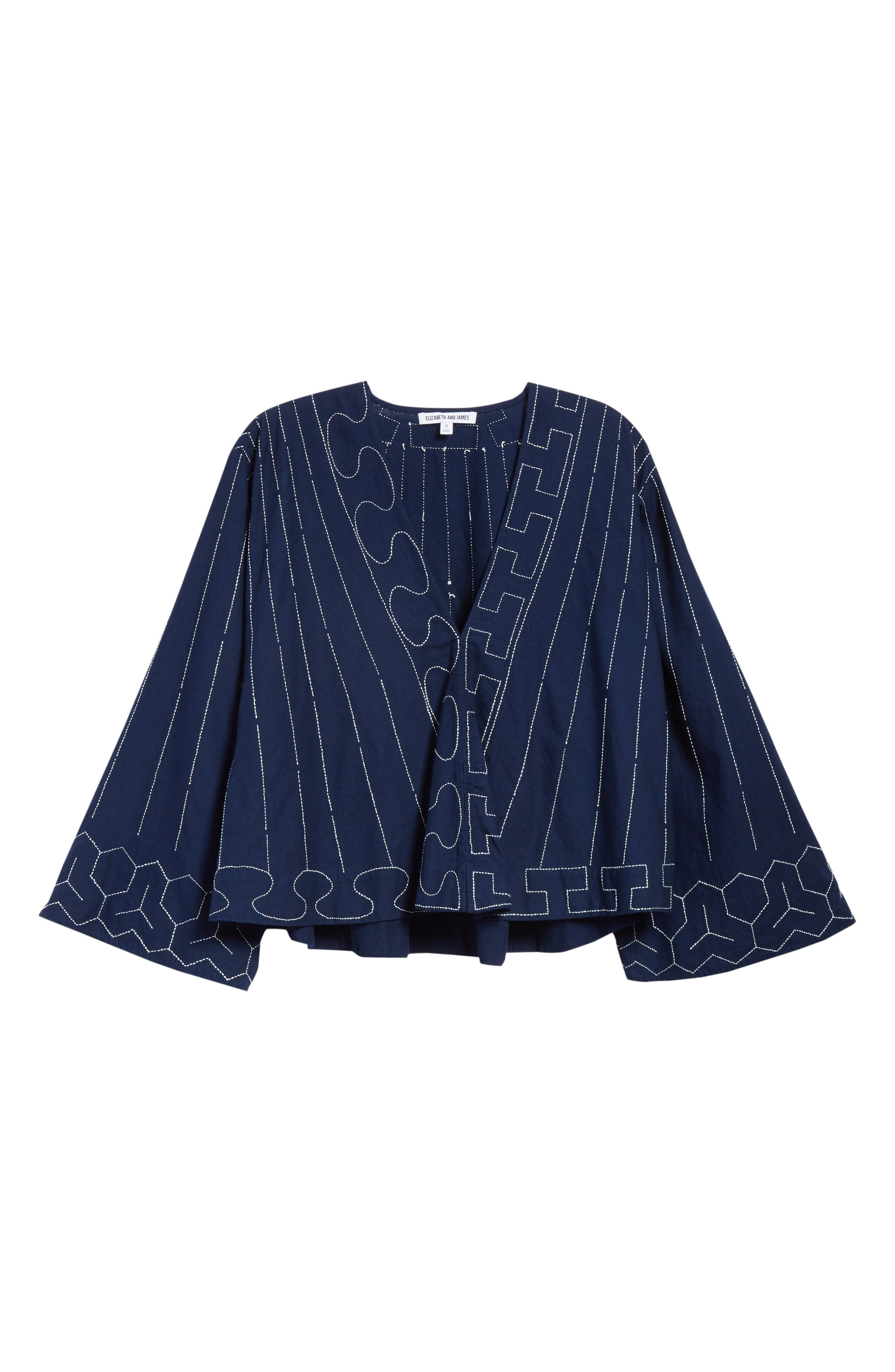 Orchid Embroidered Top,                             Alternate thumbnail 6, color,                             Dark Indigo